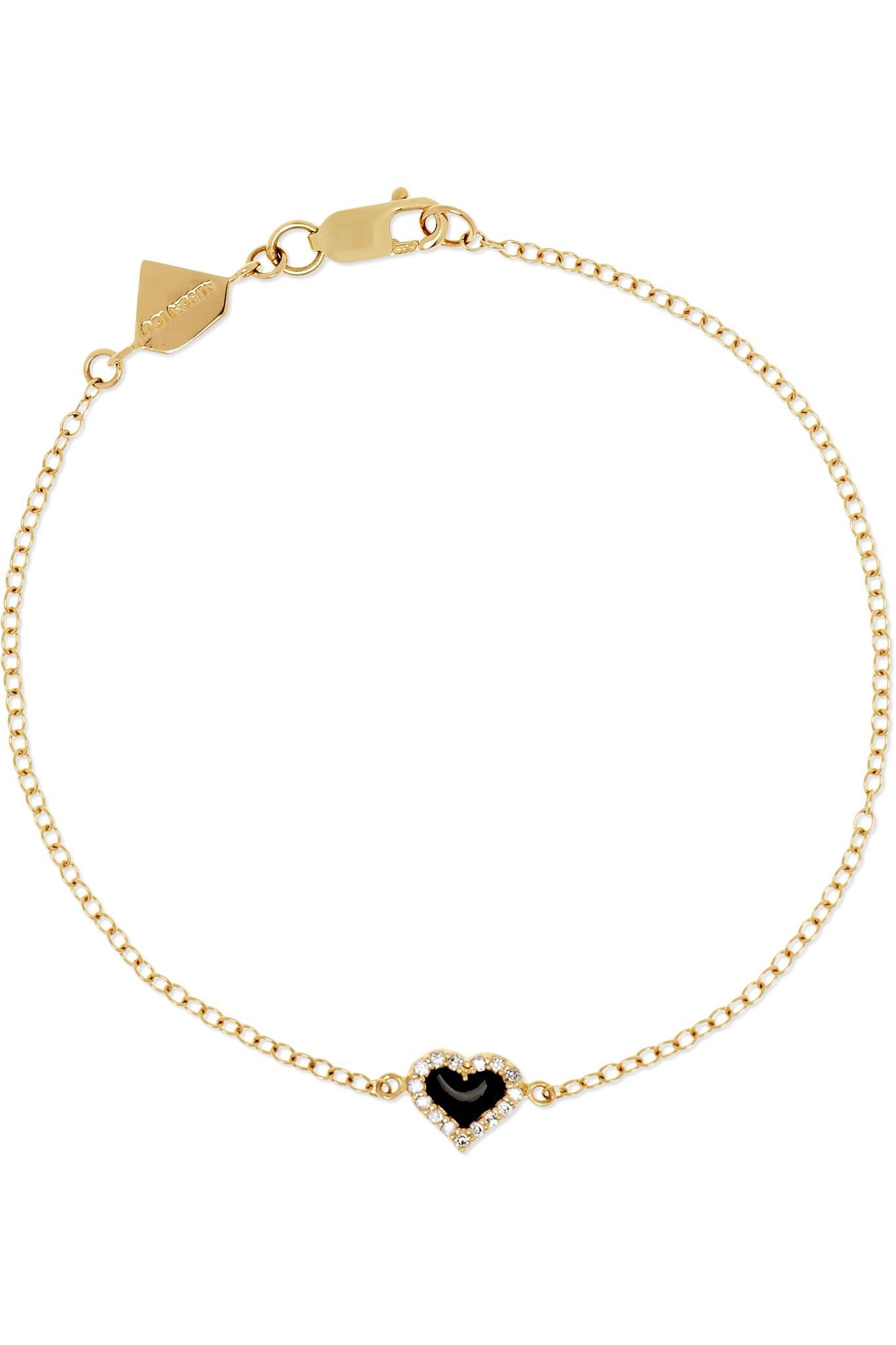 Alison Lou Salt Enameled 14-karat Gold Diamond Bracelet uLq0iryU6H