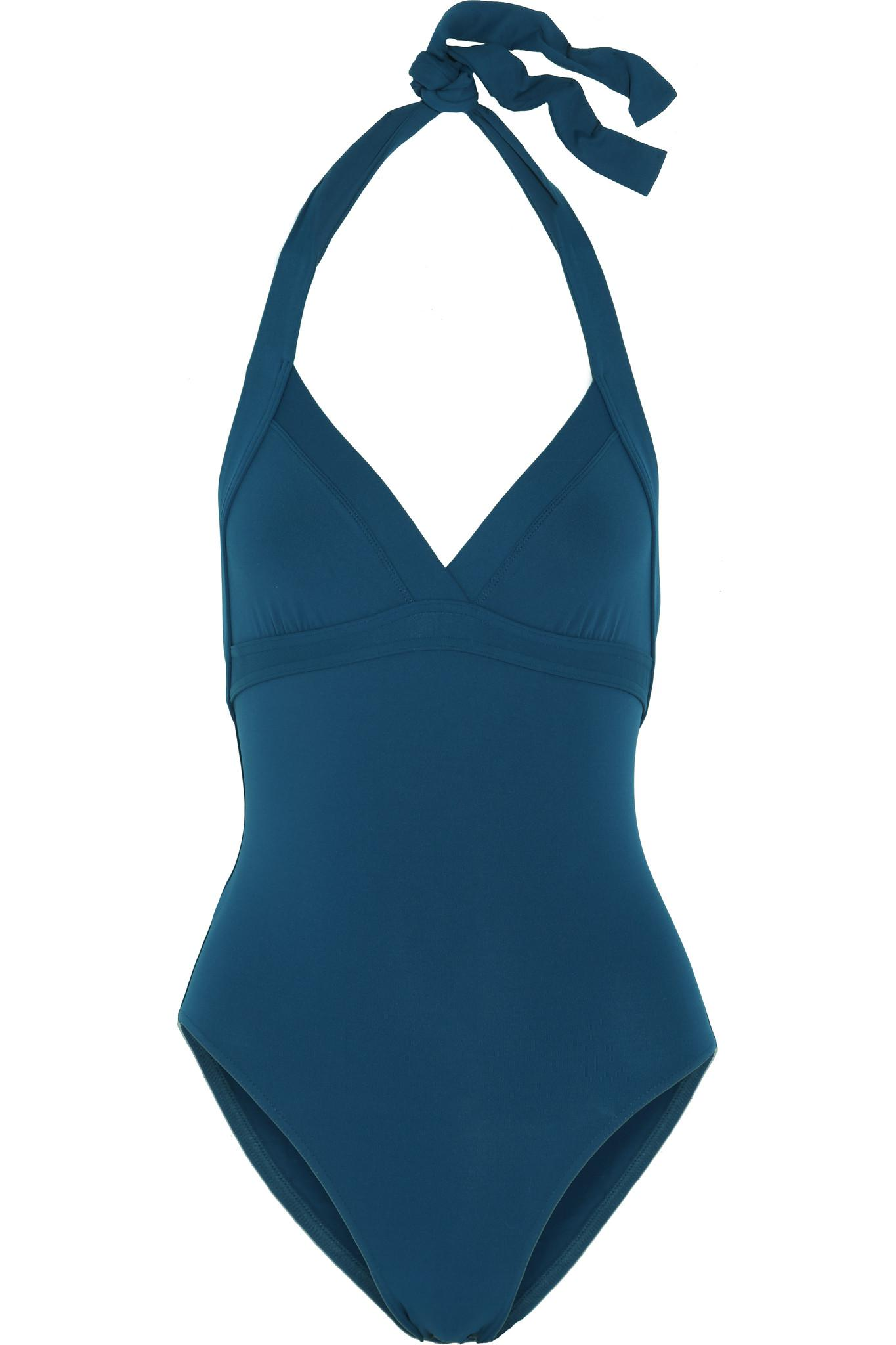 1fa9476e66d44 Eres Les Essentiels Cassis Halterneck Swimsuit in Blue - Lyst