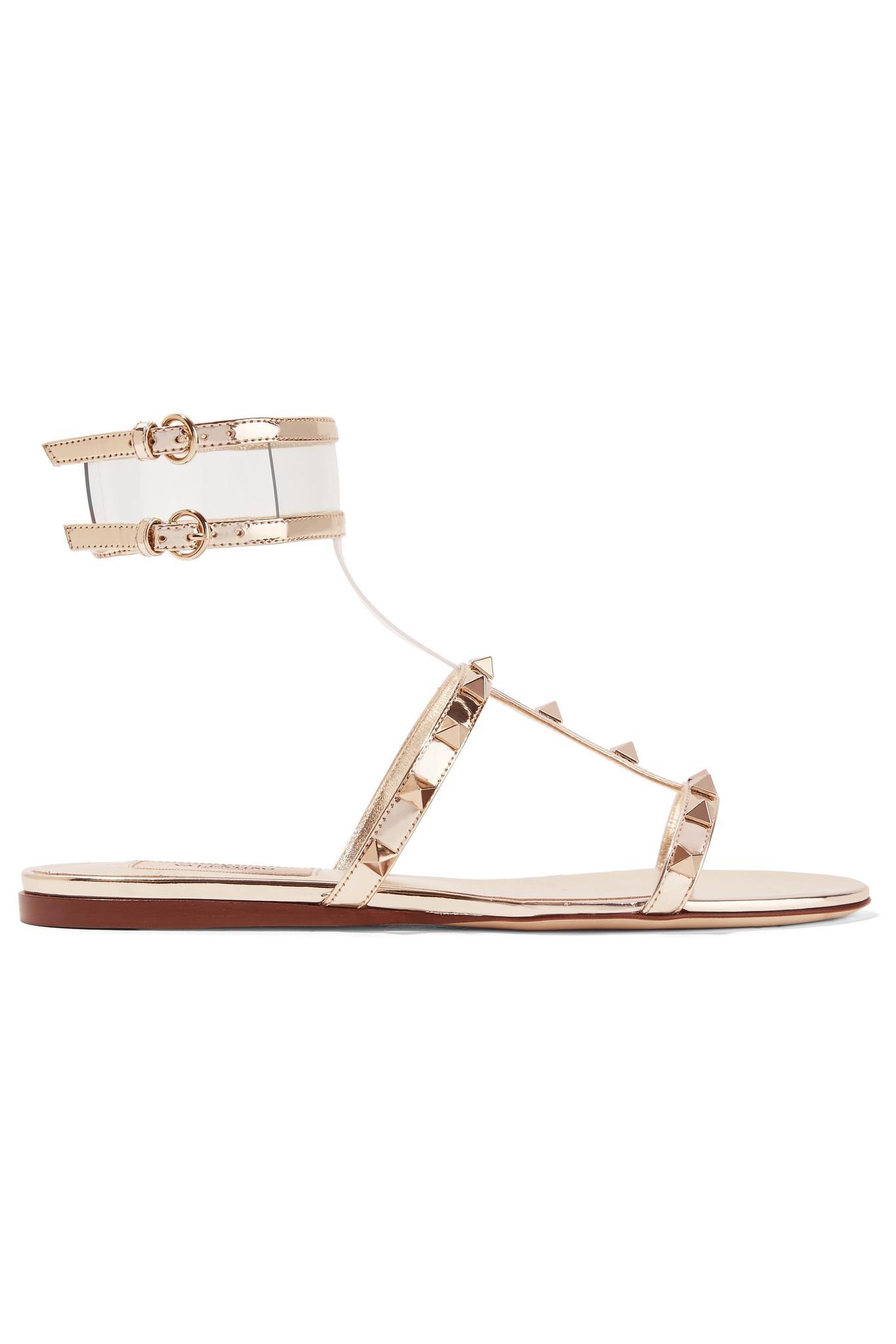 Valentino Garavani Moonwalk Rockstud sandals - Metallic Valentino I9inS626rv
