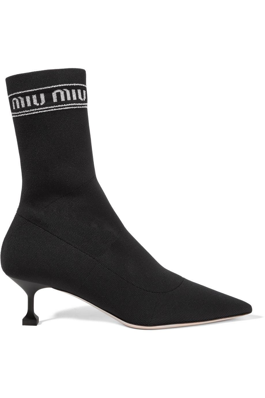 Miu Miu logo print boots 100% guaranteed cheap online outlet high quality browse cheap online oRsJW