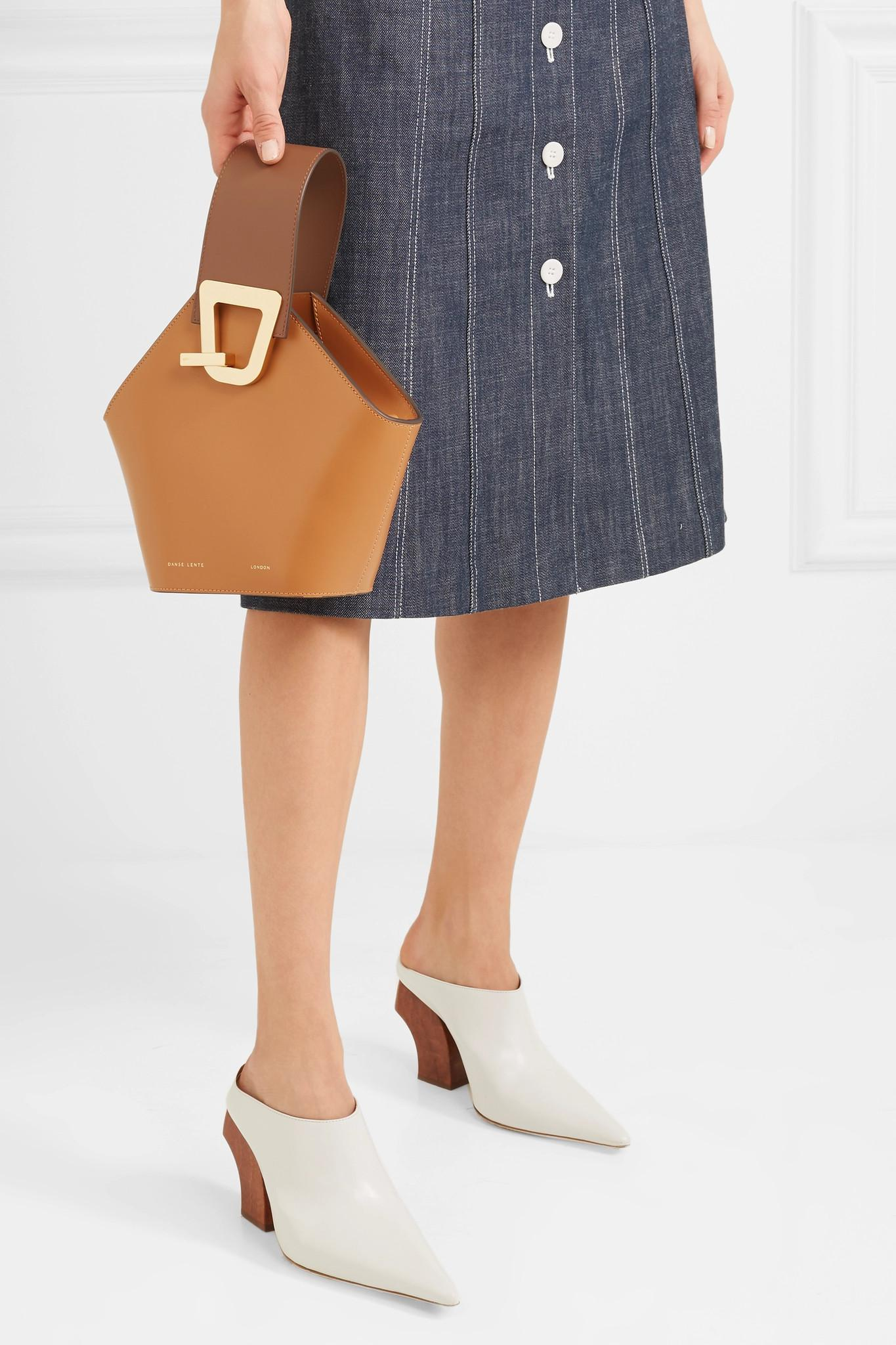 ad32bb213 Danse Lente Mini Johnny Leather Top Handle Bag in Brown - Lyst