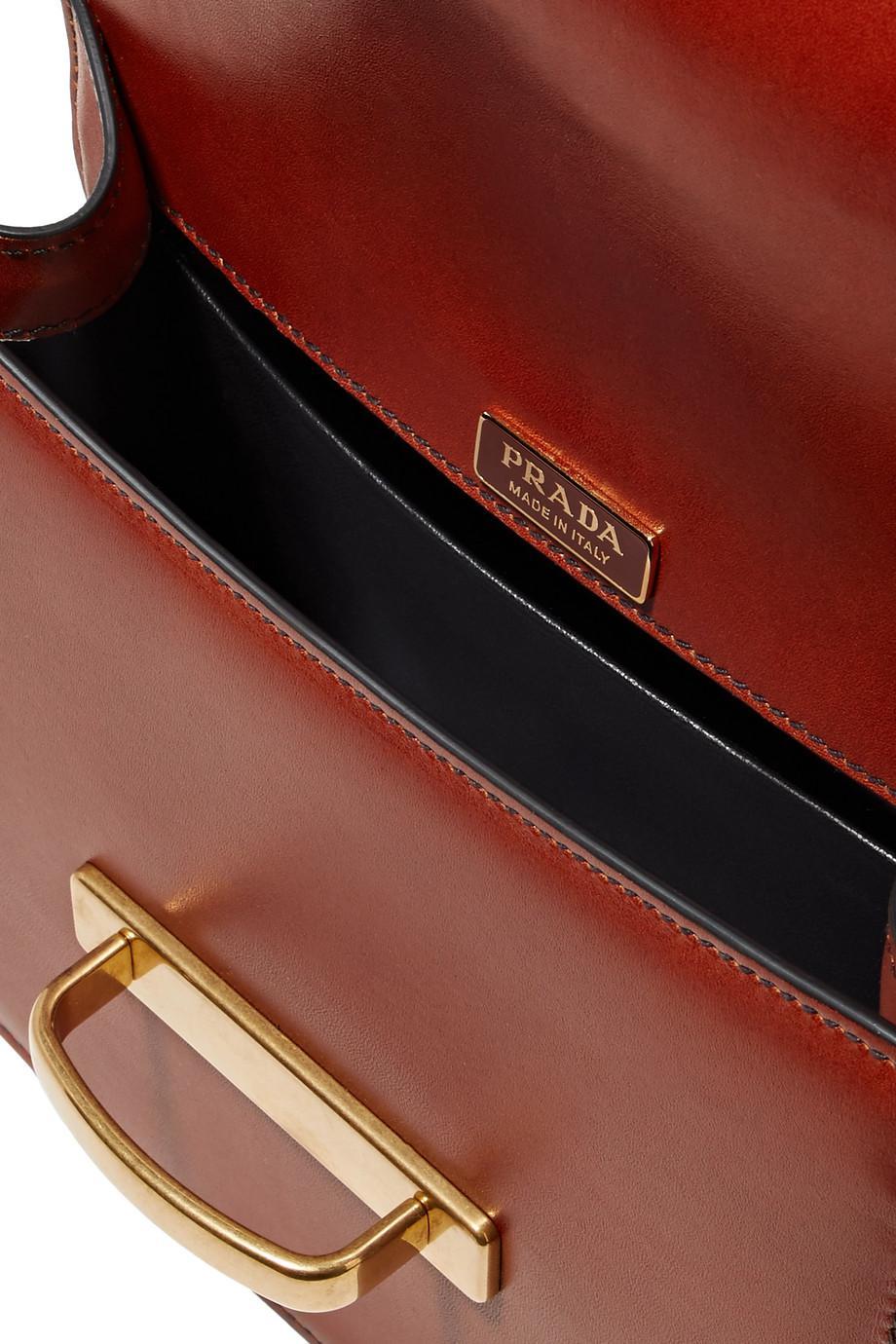 7750fde4db Lyst - Prada Pionnière Two-tone Leather Shoulder Bag