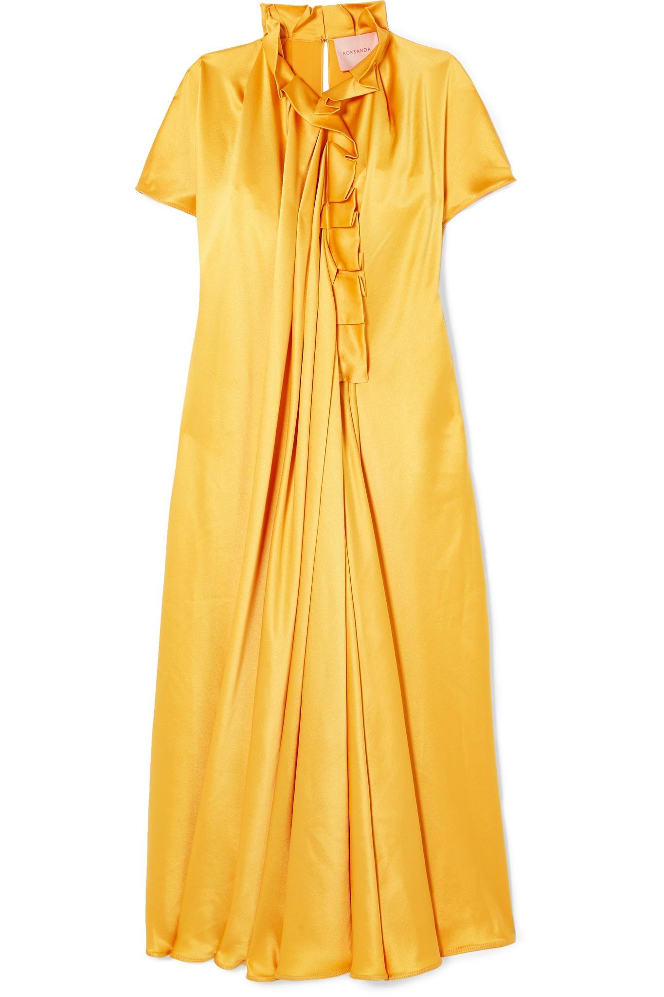 Idalia Pinstriped Cotton And Silk-blend Shirt Dress - Off-white Roksanda Ilincic 0gvcTxn