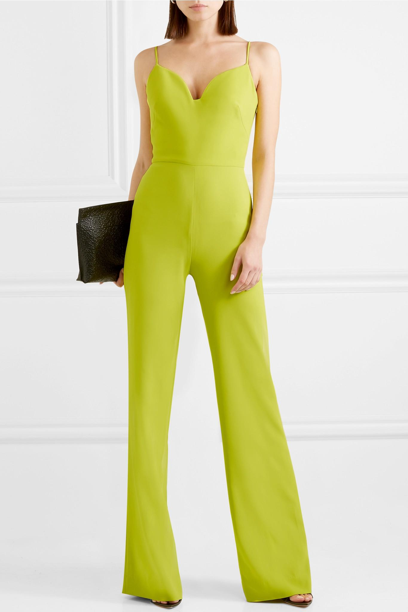 027e0d12704 Lyst - Brandon Maxwell Stretch-crepe Jumpsuit in Yellow - Save 80%