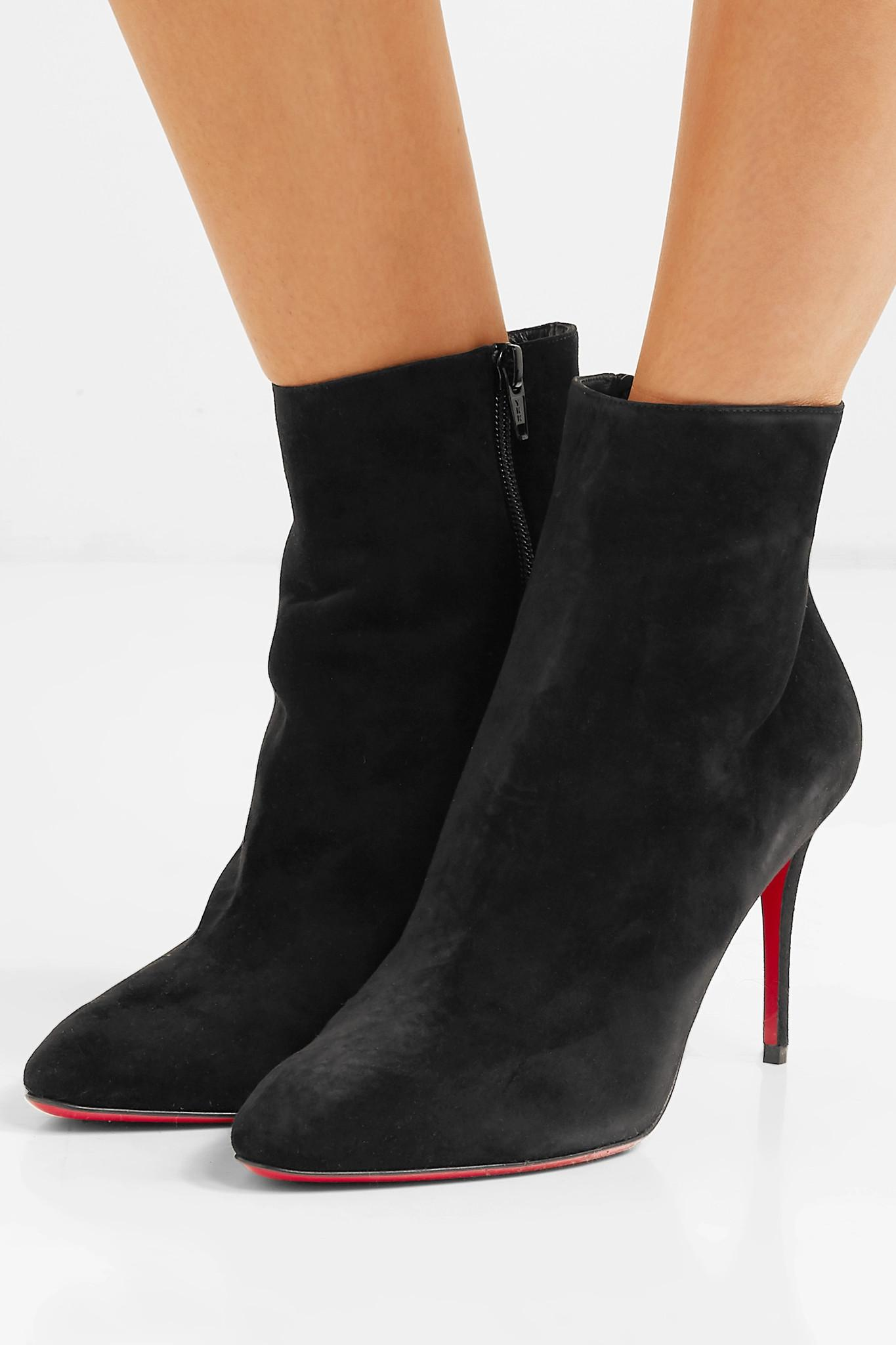4c9ca13afc55 Christian Louboutin - Black Eloise 85 Suede Ankle Boots - Lyst. View  fullscreen