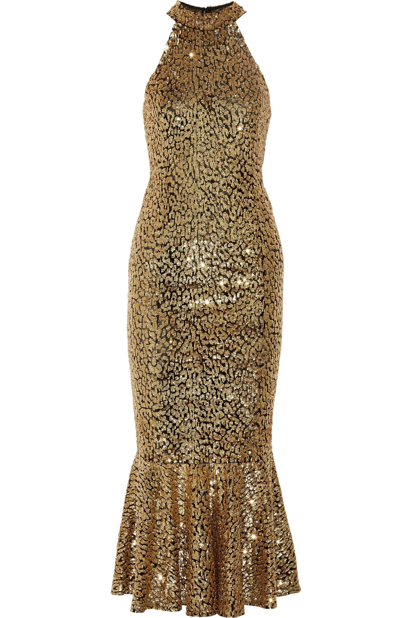 Lyst - Michael Kors Sequined Stretch-tulle Gown in Metallic