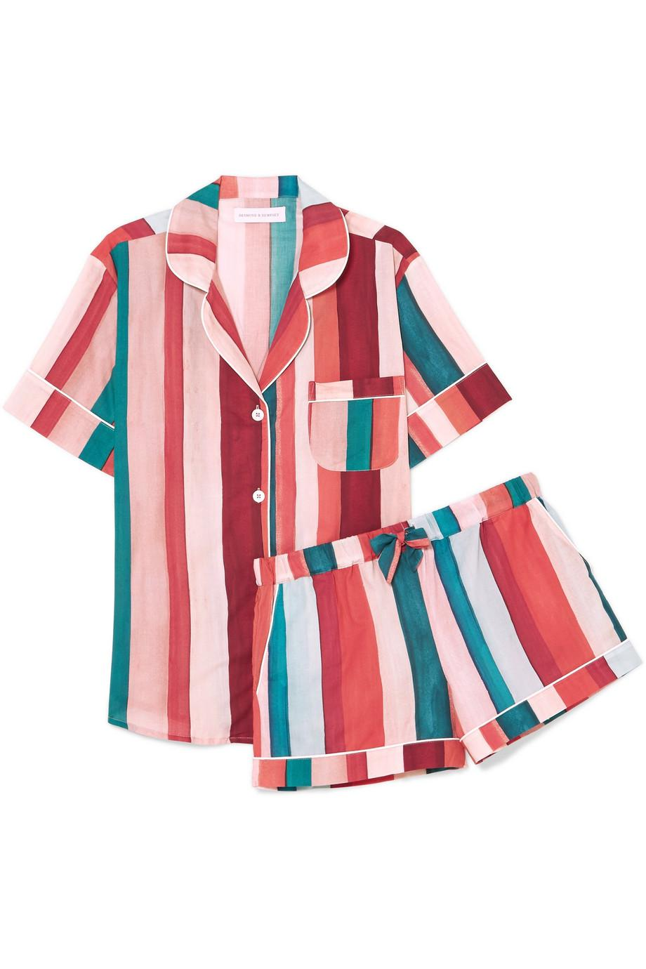 Striped Cotton-voile Pajama Set - Red Desmond & Dempsey Free Shipping Extremely Free Shipping Recommend Sale Shop Outlet Footlocker Finishline UlNlPIz