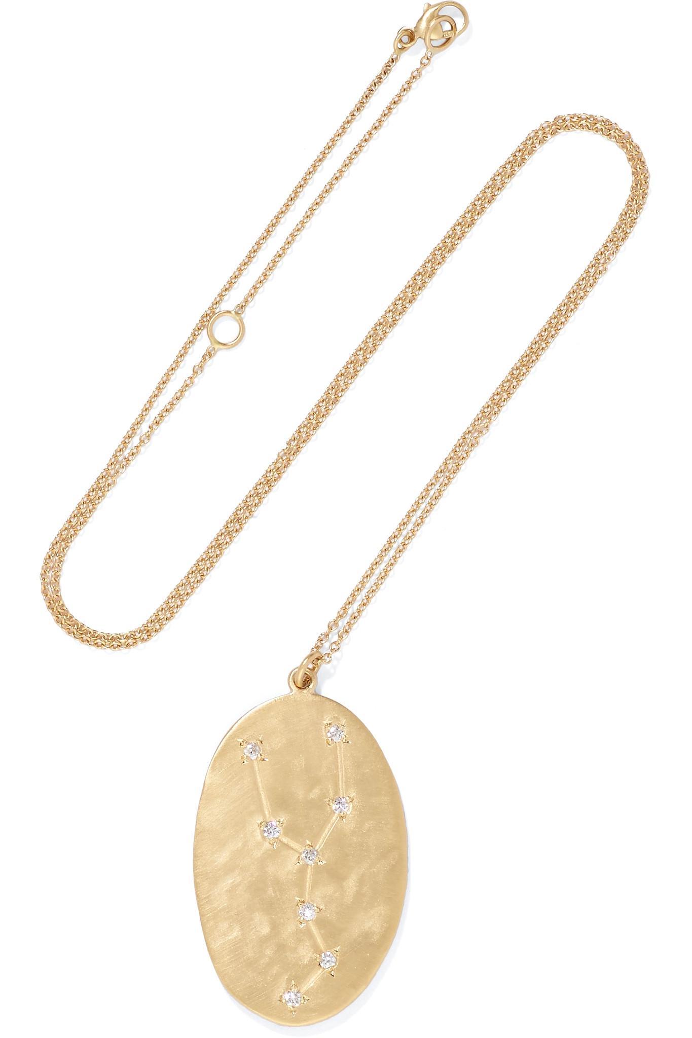 i and i jewellery 14-karat Gold Diamond Necklace Hf8wd7Bc