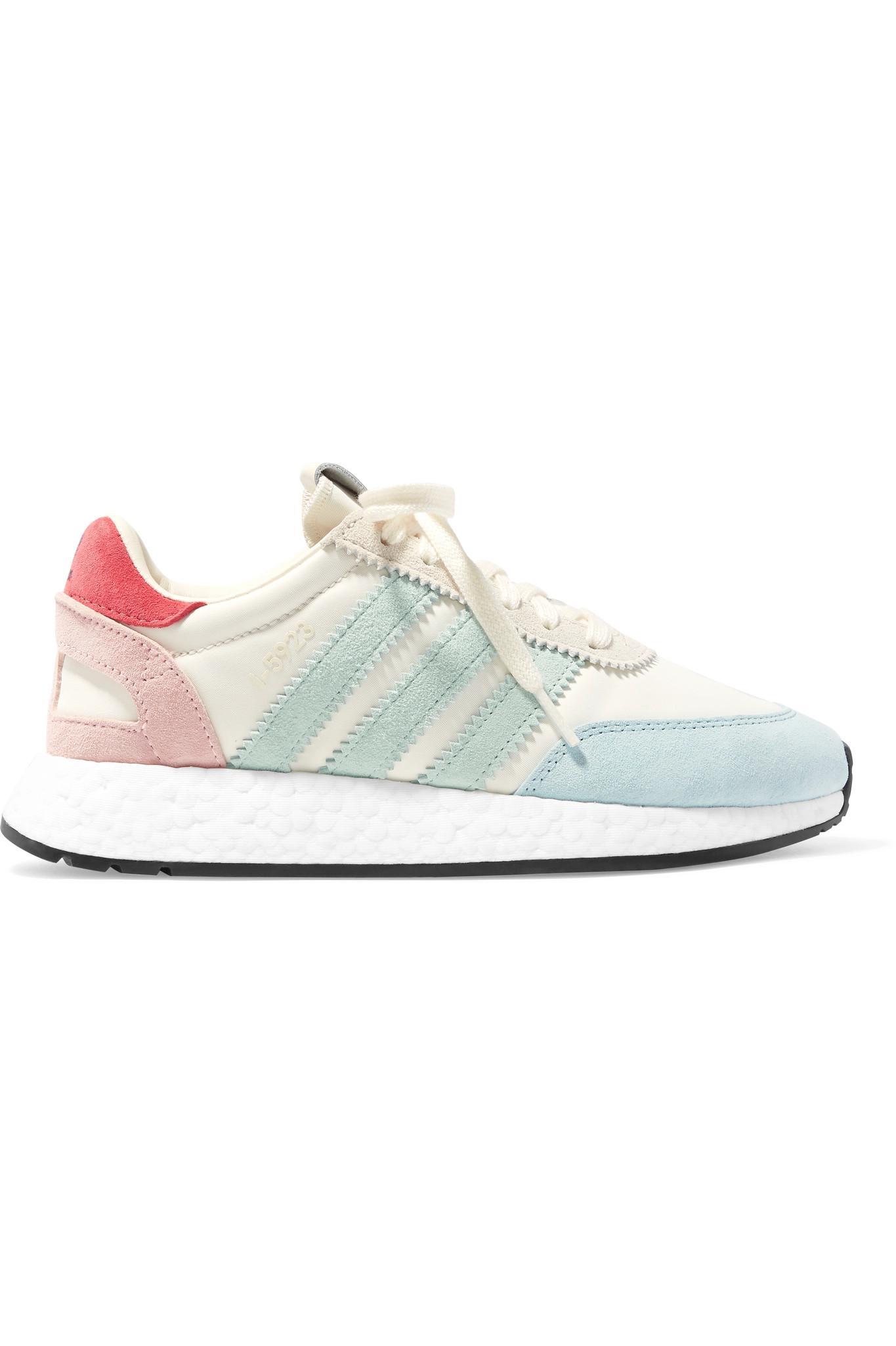 I-5923 Pride Suede-trimmed Canvas Sneakers - Blue adidas Originals Eb2joPQQUl