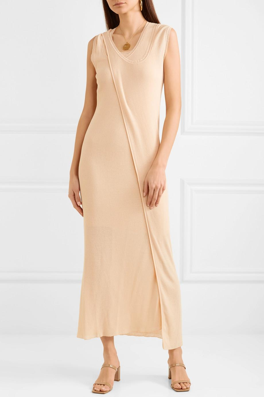 Layered Cotton-blend Midi Dress - Ivory Stella McCartney Get To Buy Cheap Online Footlocker Sale Online Cheap Sale Limited Edition Low Price Fee Shipping Cheap Price 5TUystq0q7