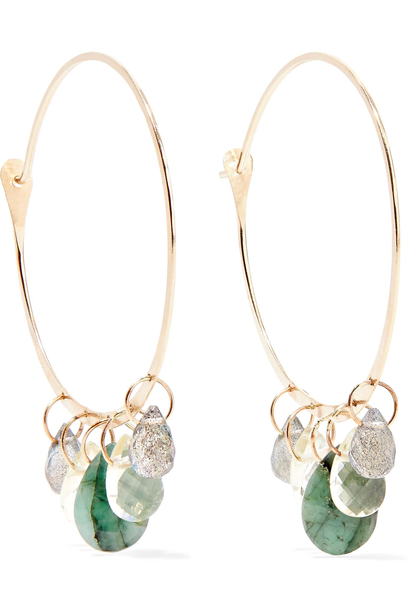 Melissa Joy Manning 14-karat Gold Multi-stone Hoop Earrings CjdhwPmoa