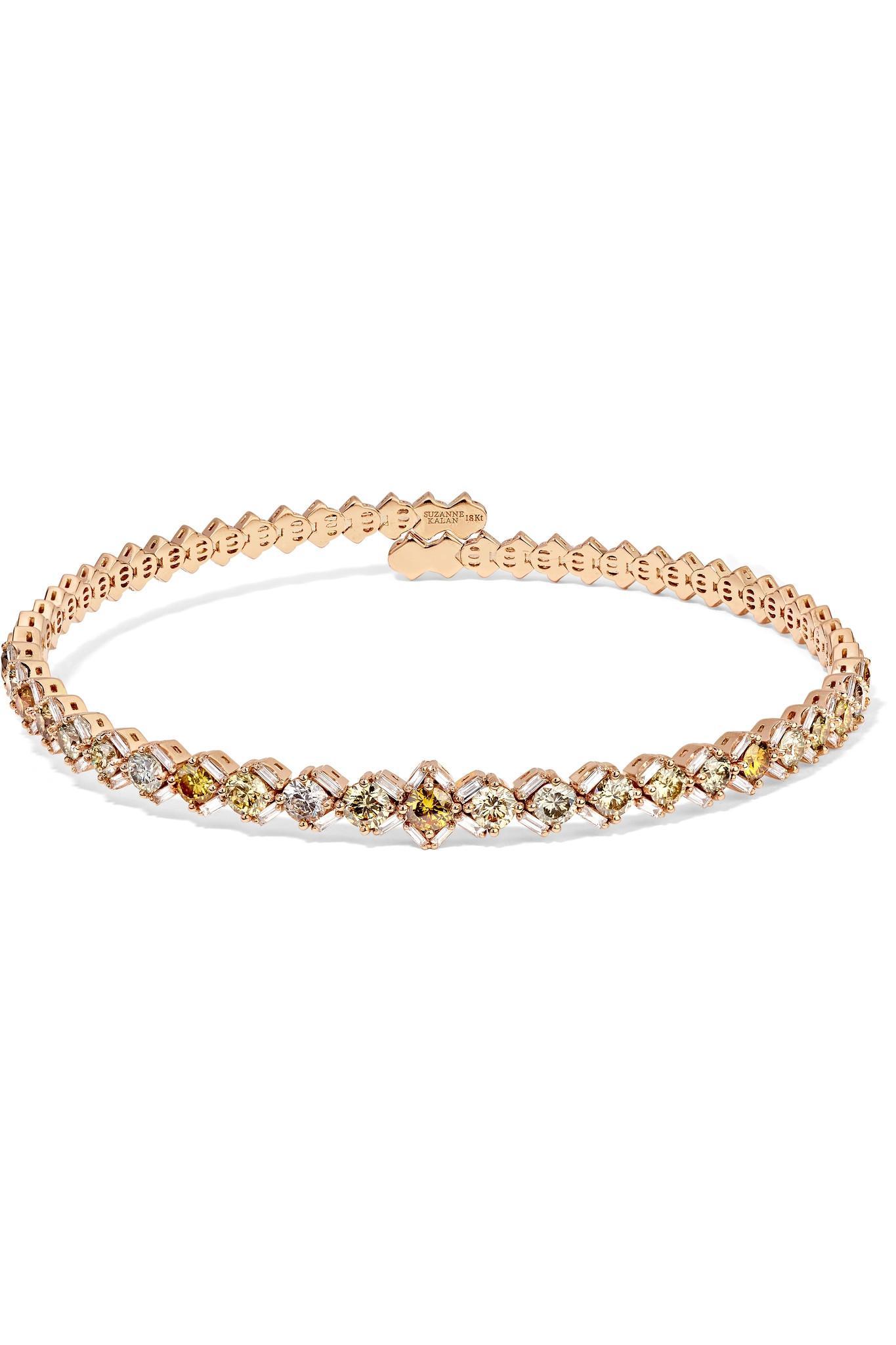 851bc929c9 Suzanne Kalan 18-karat Rose Gold Diamond Choker in Metallic - Lyst
