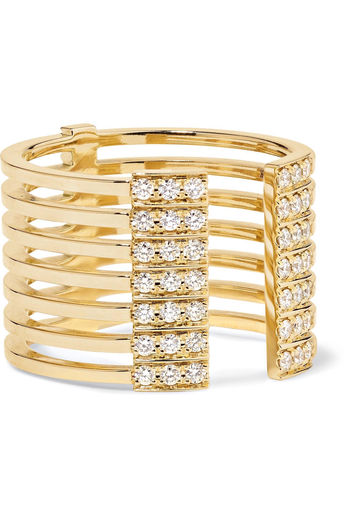 Melissa Kaye Izzy 18-karat Gold Diamond Cuff OcZmJhy