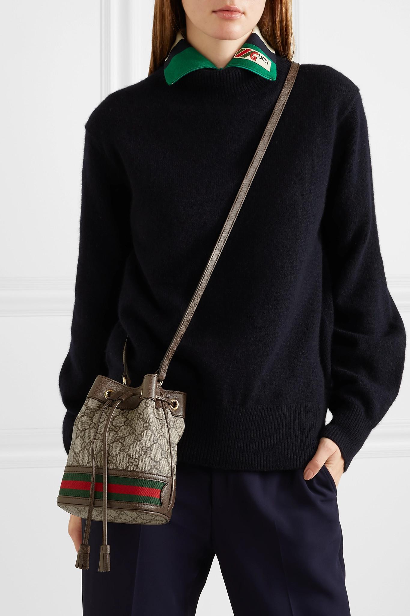Gucci - Brown Ophidia GG Bucket Bag - Lyst. View fullscreen 0fd20d25f4cdc