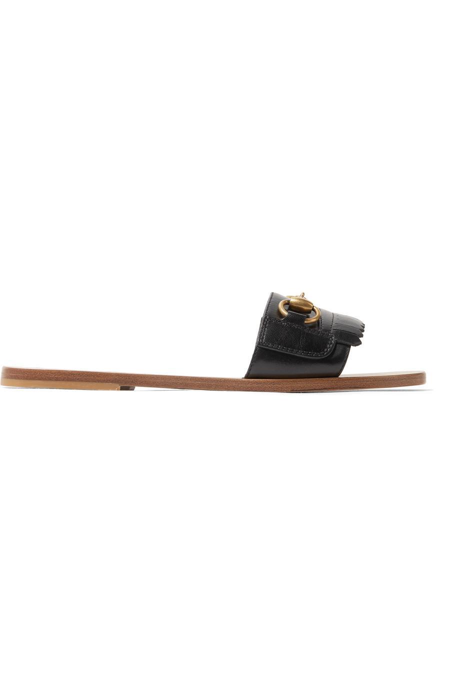 Varadero Horsebit Fringed Leather Sandals Gucci OlnwYNG4V