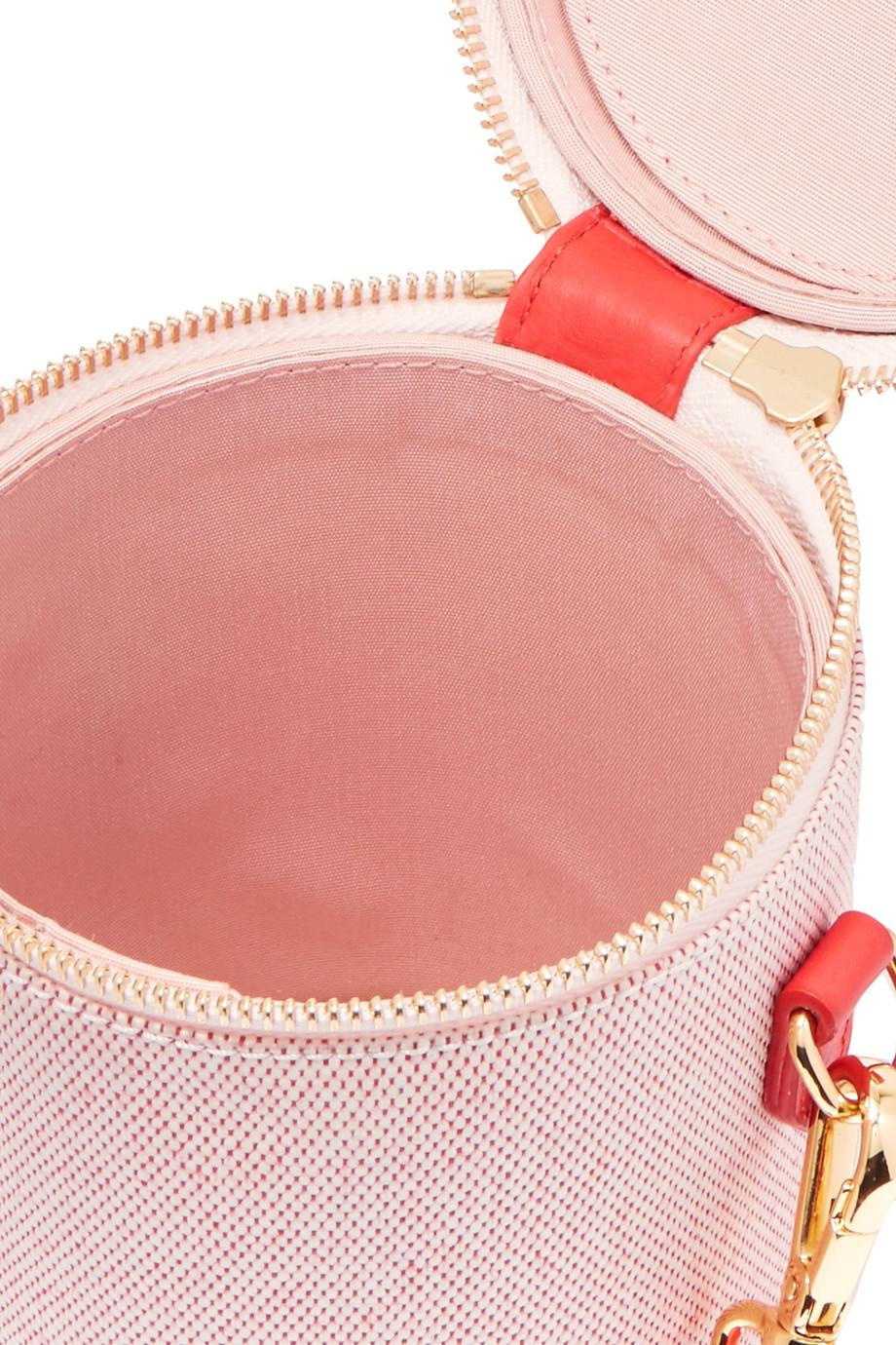 Shop Offer For Sale Crossbody Capsule Leather-trimmed Canvas Shoulder Bag - Red Paravel Clearance Cheap Real Free Shipping Outlet New Arrival Cheap Online Choice Online XnwcXBL6