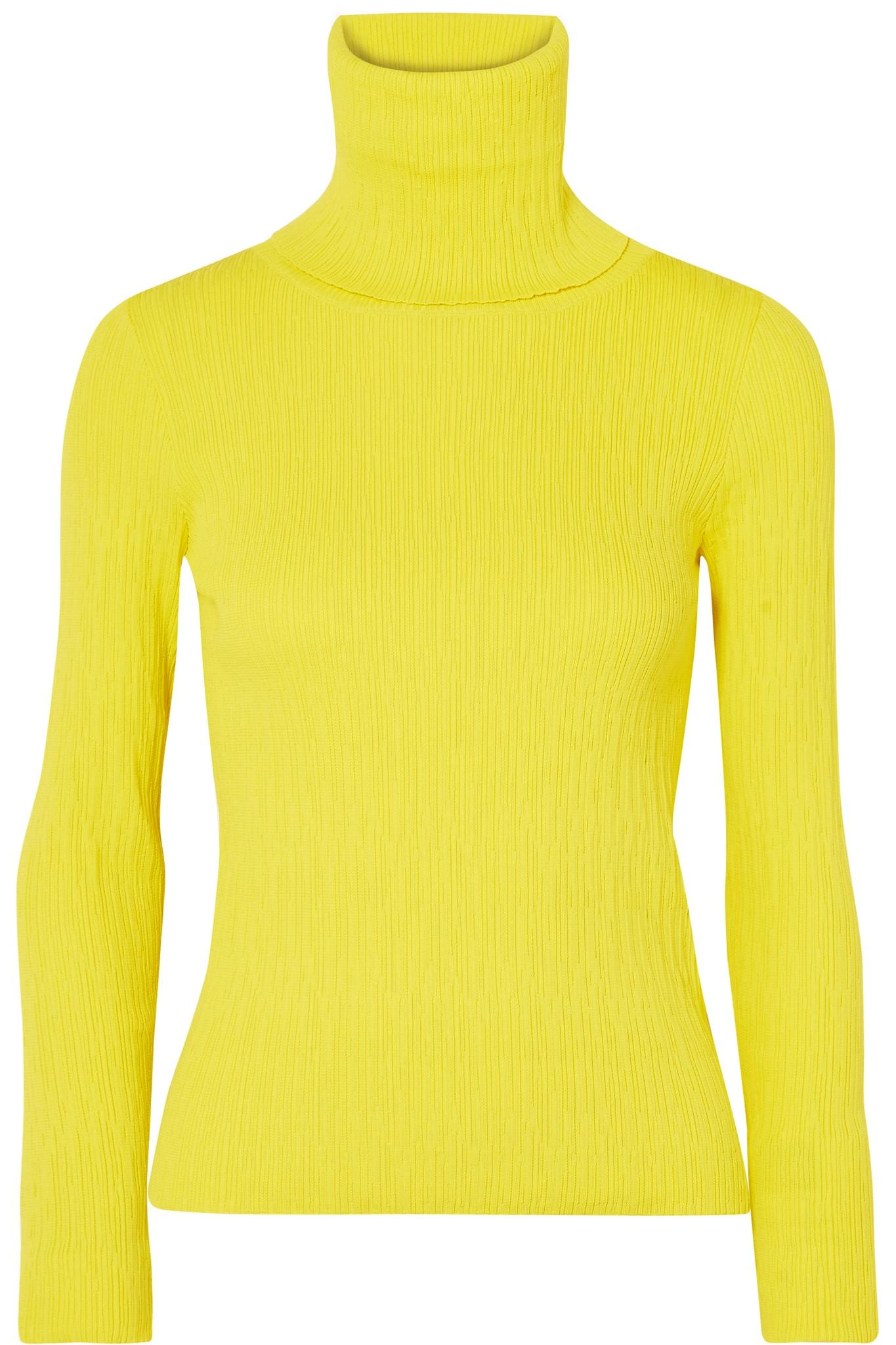 45d00f75867a8b Simon Miller Berto Neon Ribbed-knit Turtleneck Sweater in Yellow - Lyst