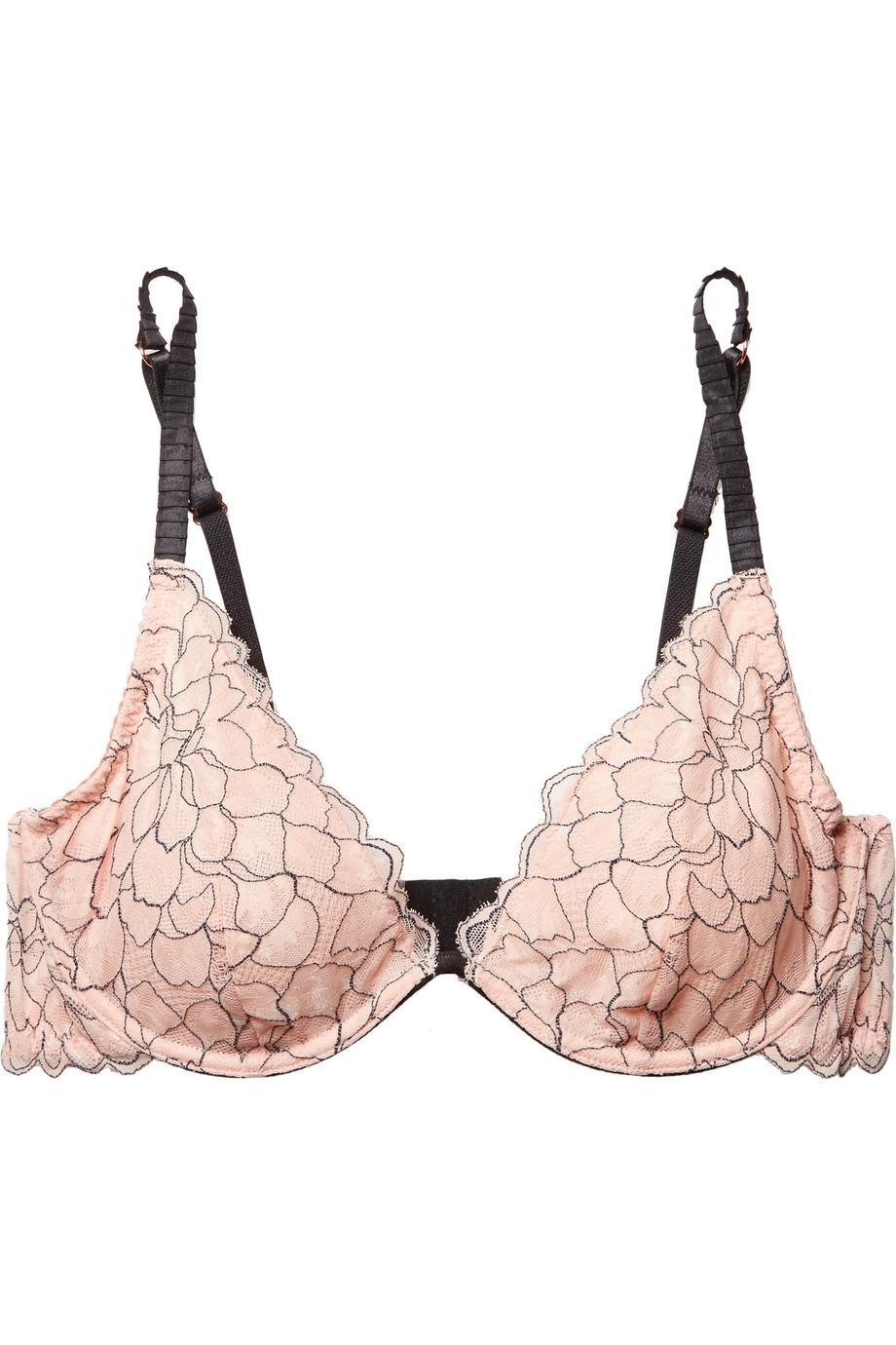 6086810bd2519 Lyst - Eberjey Rosario The Plunge Stretch-corded Lace Underwired Bra