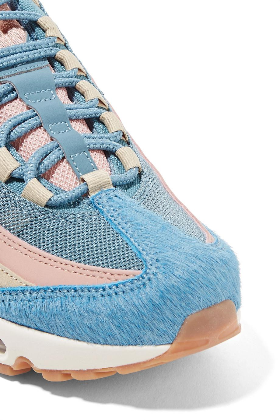 new product 8a250 bf535 Lyst - Nike Air Max 95 Calf Hair, Suede And Mesh Sneakers in