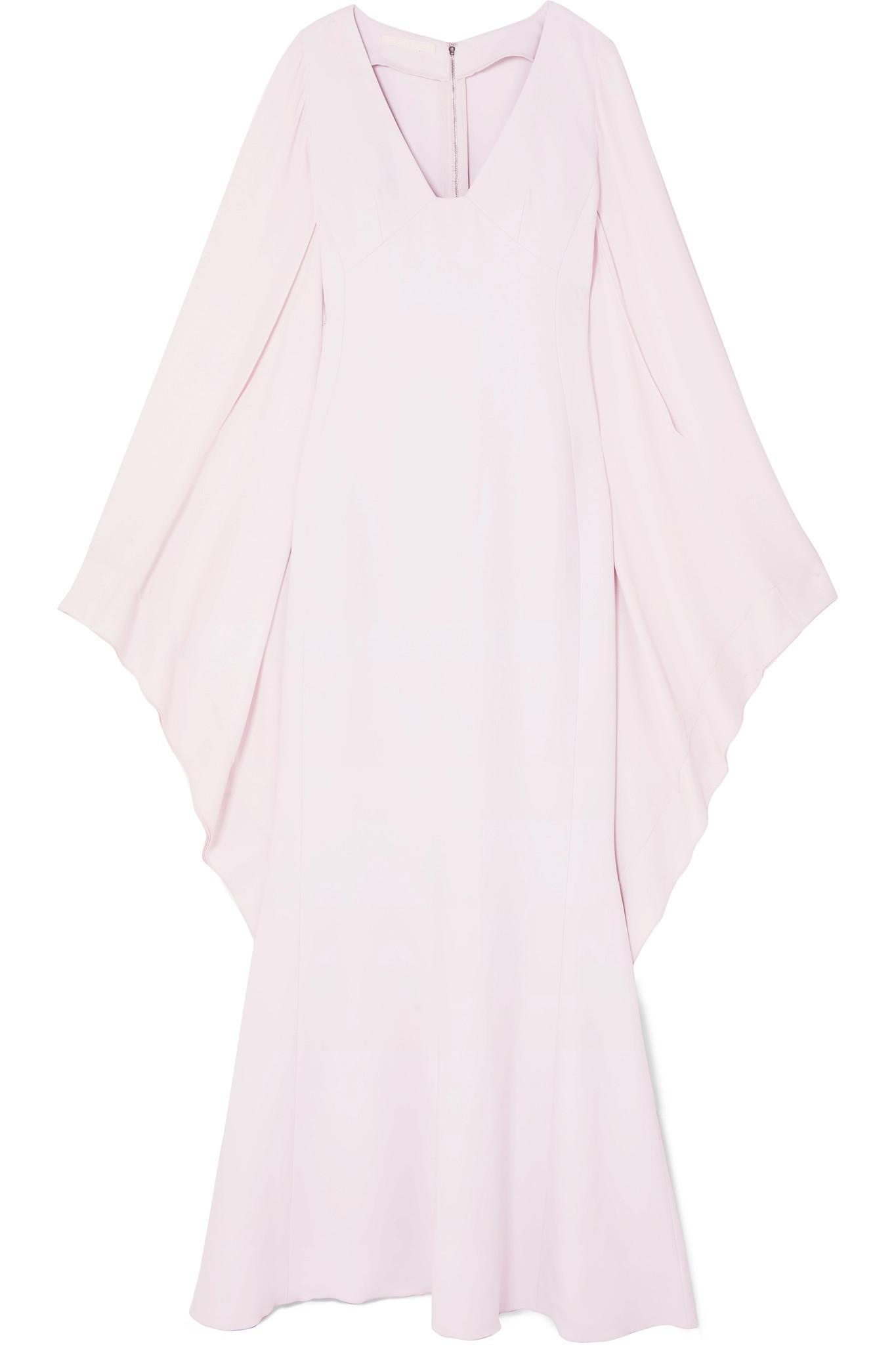 Antonio Berardi. Women's Pink Draped Crepe And Georgette Gown