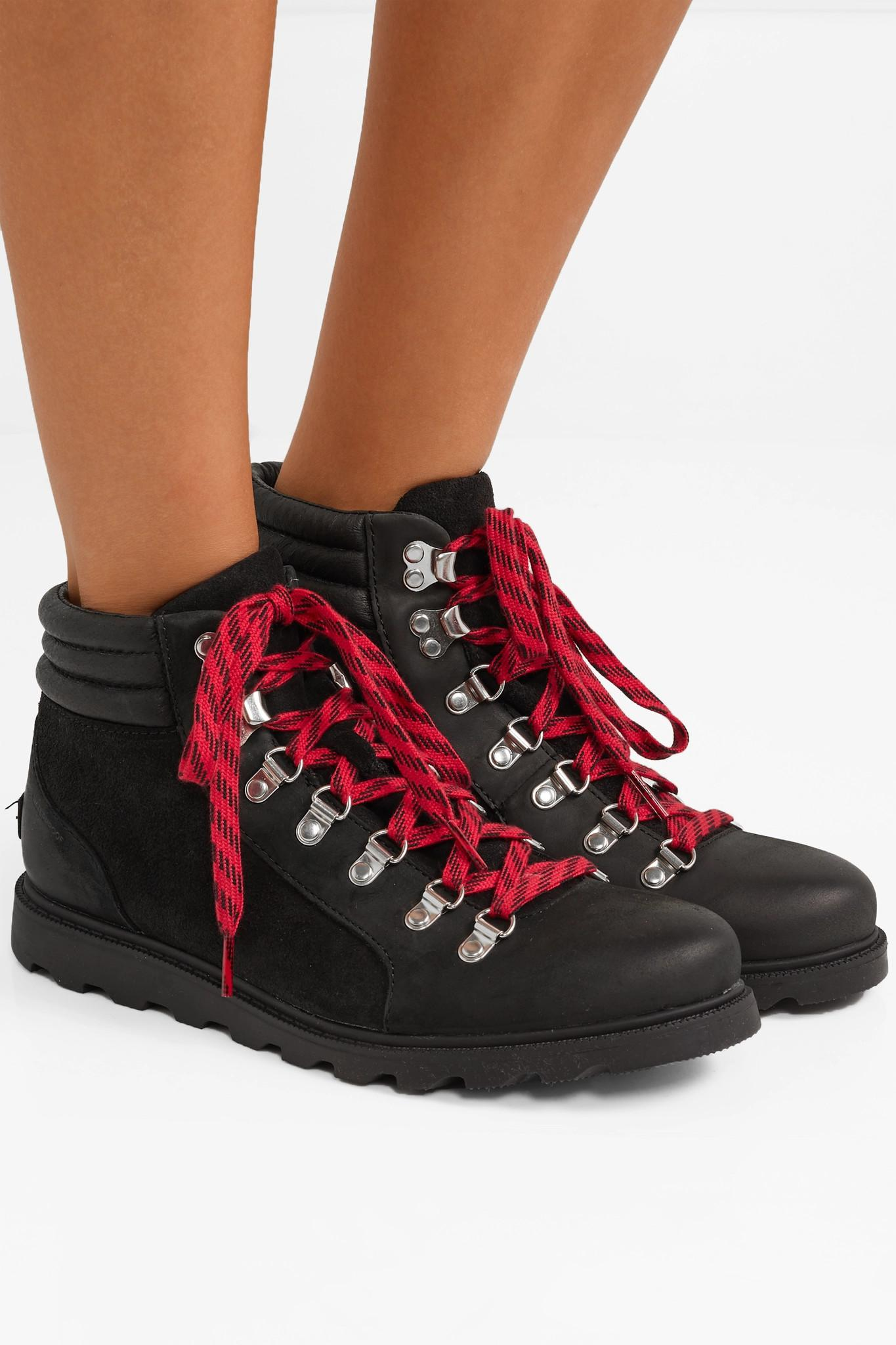 478963e97c12 Sorel - Black Ainsleytm Conquest Waterproof Leather And Suede Boots - Lyst.  View fullscreen