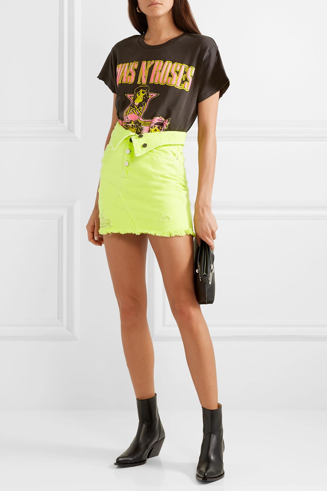 91a63c490a8c40 amiri-yellow-Fold-over-Distressed-Denim-Mini-Skirt.jpeg