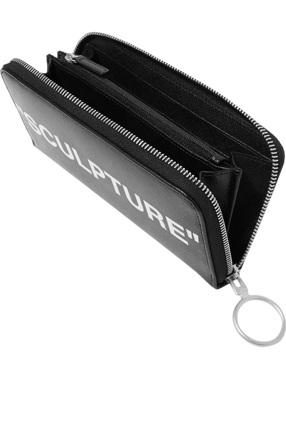 Printed leather wallet Off-white 4TnK6XRq