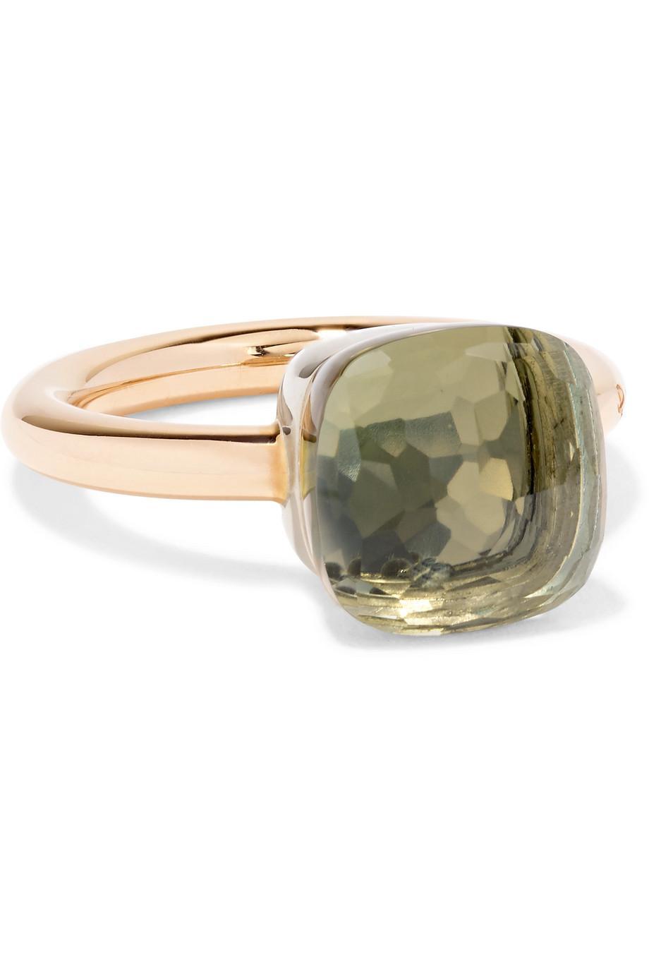 POMELLATO Nudo Petit 18-karat Rose Gold Prasiolite Ring Iz4eA