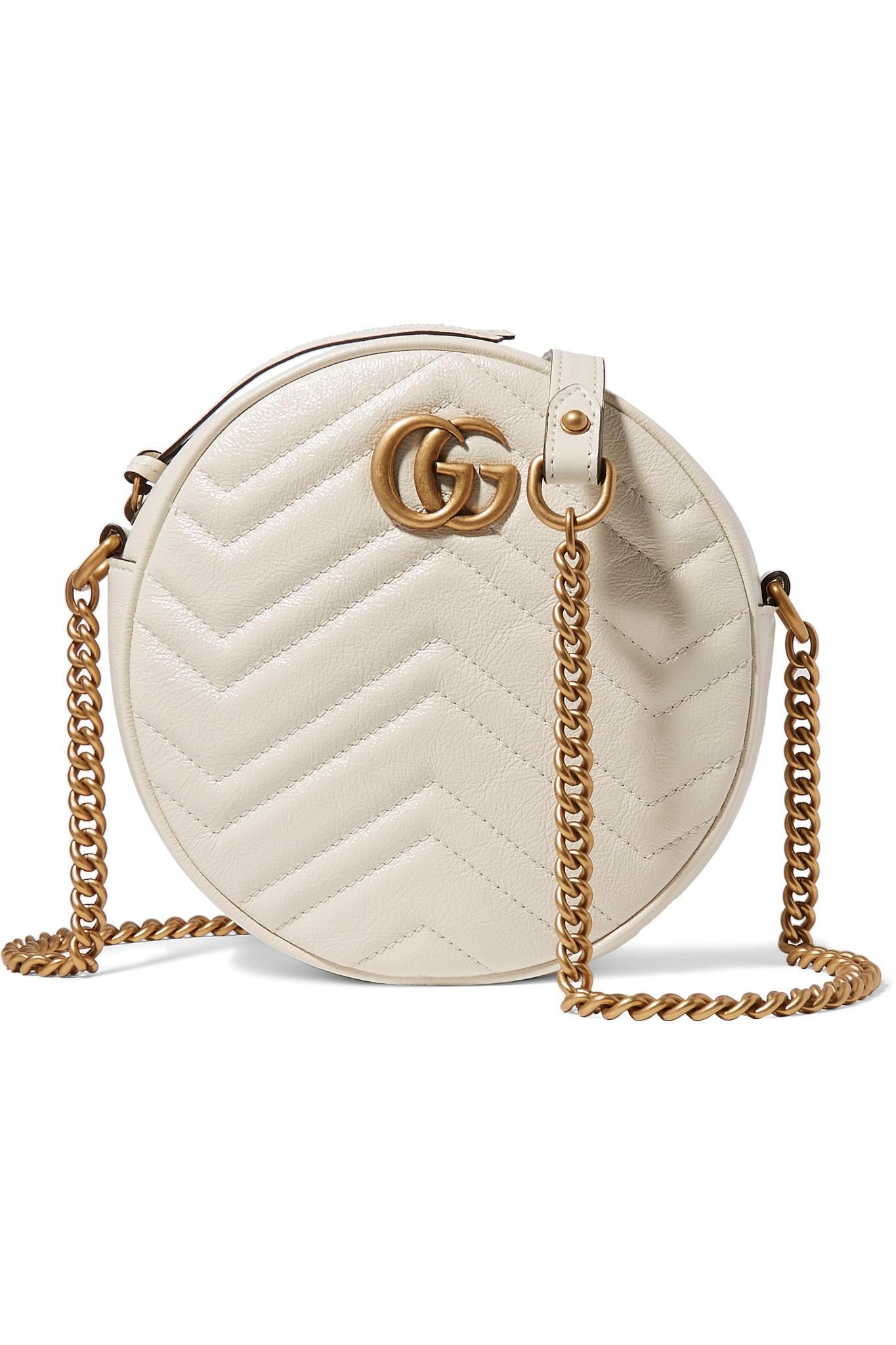 5f994ff507e Lyst - Sac Porté Épaule En Cuir Matelassé Gg Marmont Circle Gucci en ...