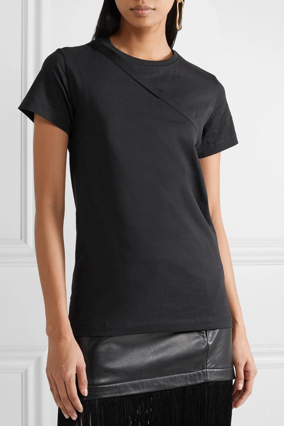 Open-back Stretch-cotton Jersey T-shirt - Black Helmut Lang Looking For Many Colors HIgXua06aT