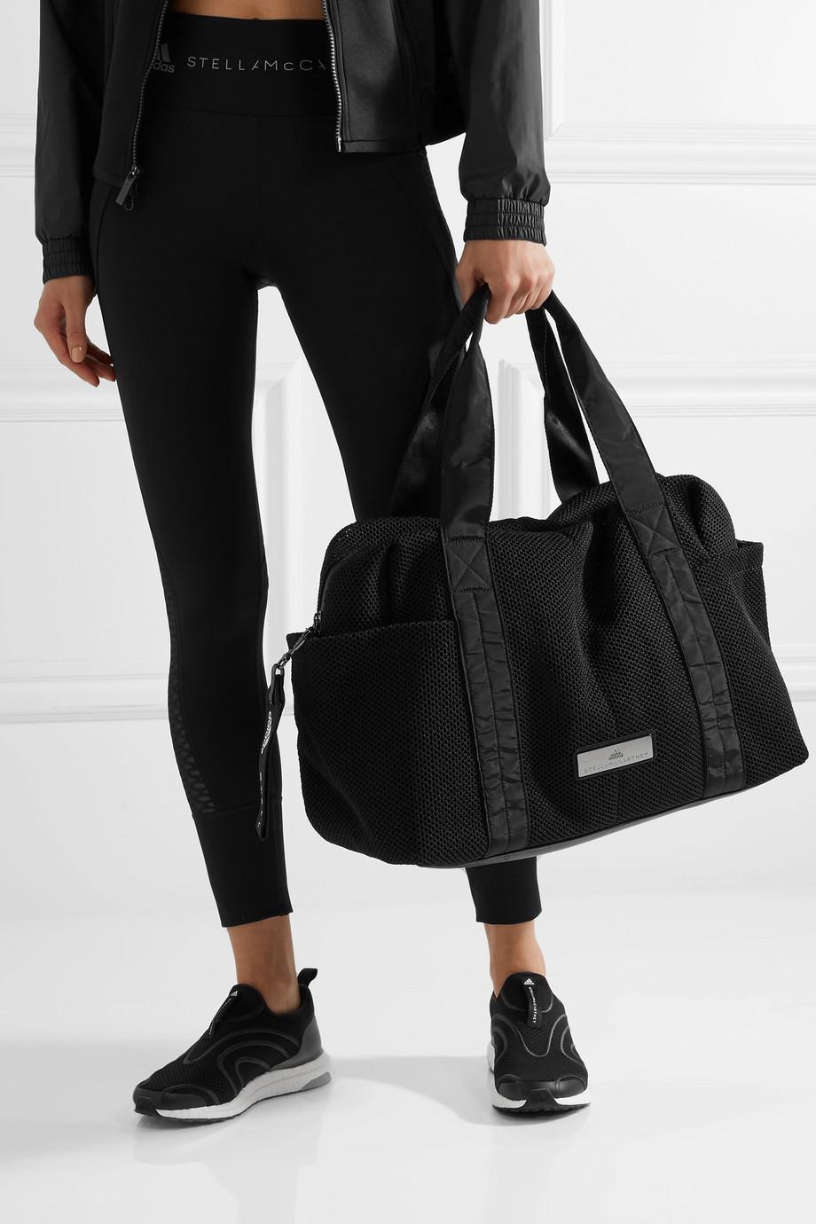 Lyst - adidas By Stella McCartney Shipshape Mesh Gym Bag in Black 4a61357ff1479