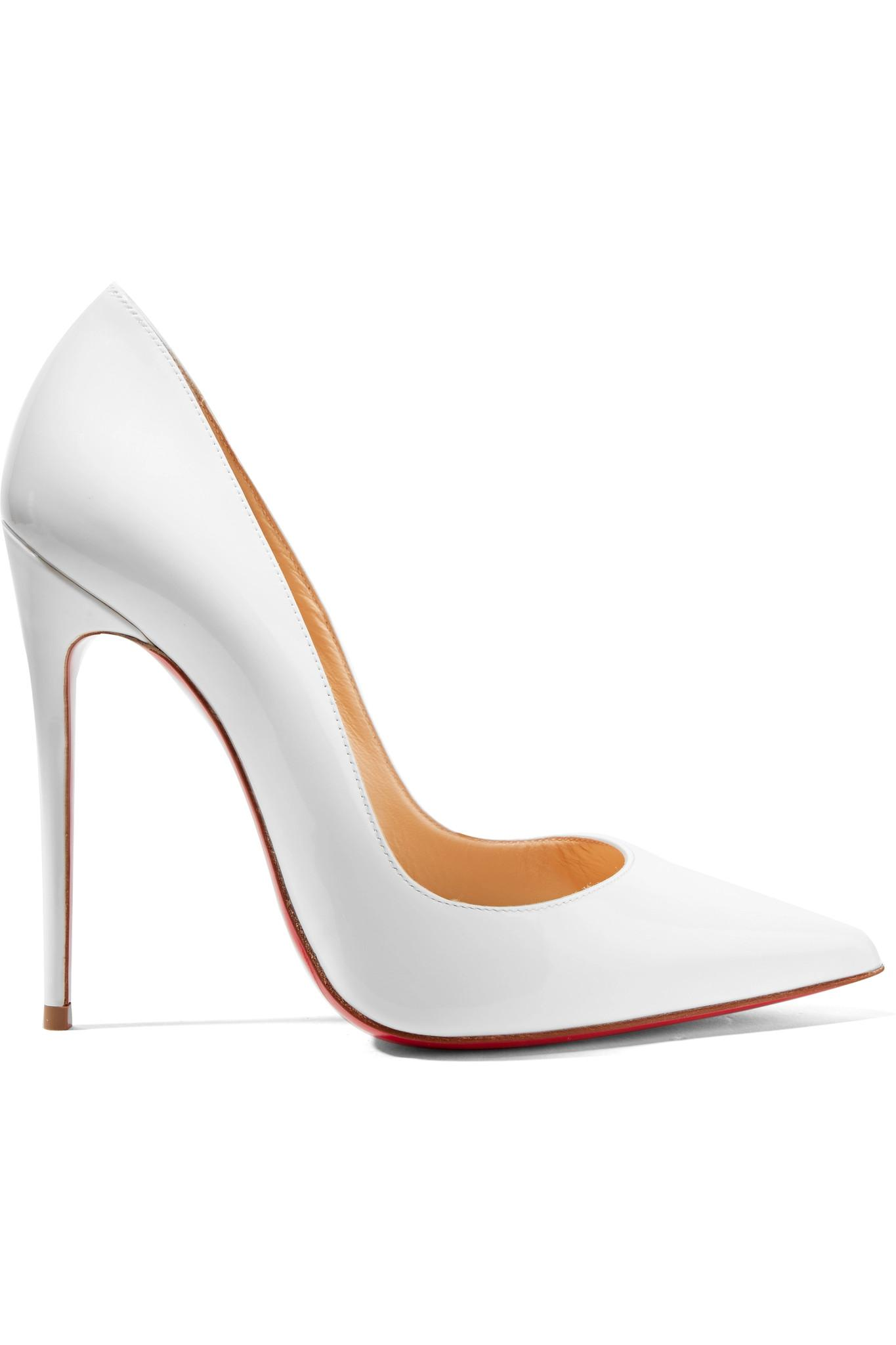 4267cc7fbb0d Christian Louboutin So Kate 120 Patent-leather Pumps in White - Lyst