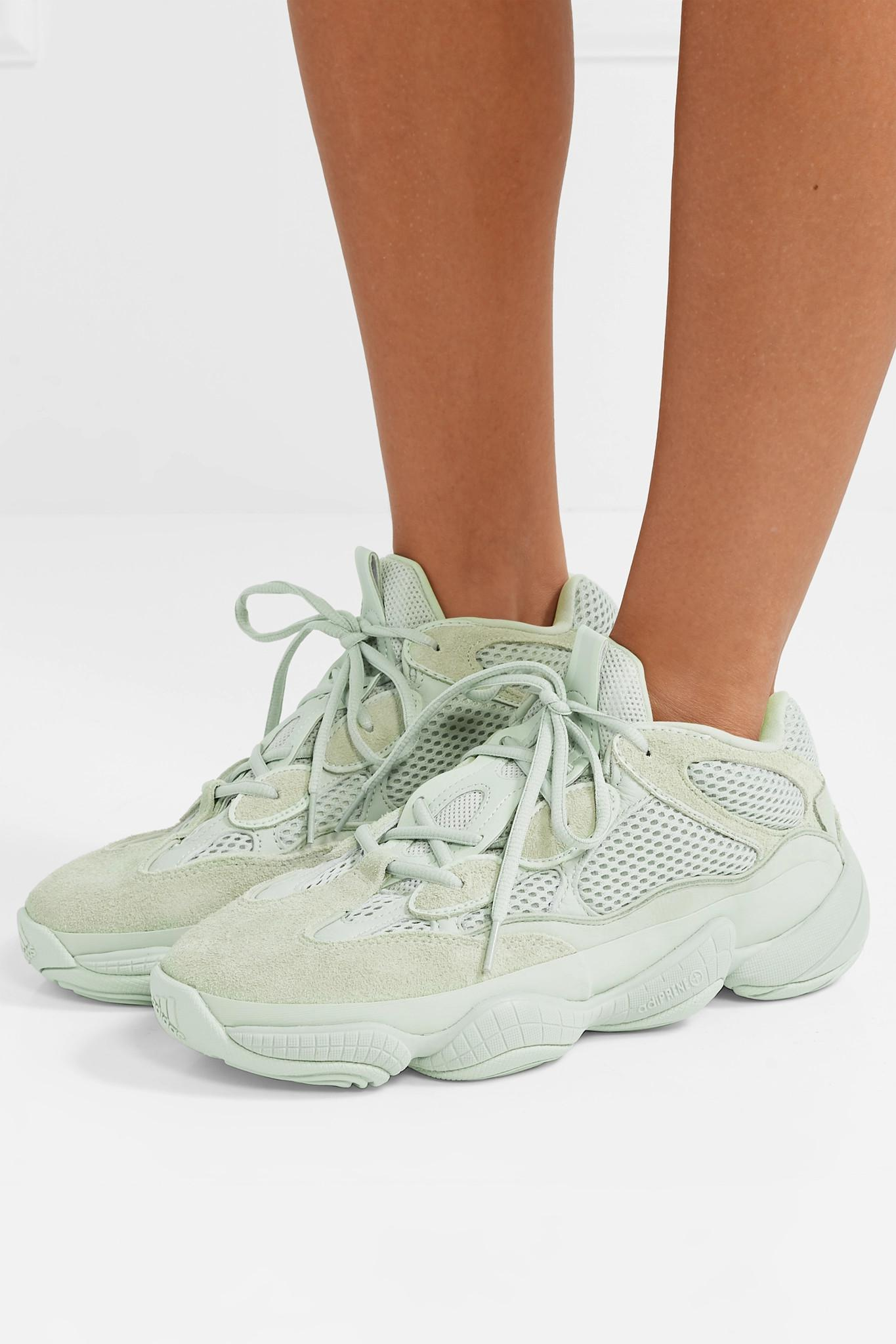 best sneakers 799e6 d2135 adidas Originals Yeezy 500 Leather, Suede And Mesh Sneakers ...