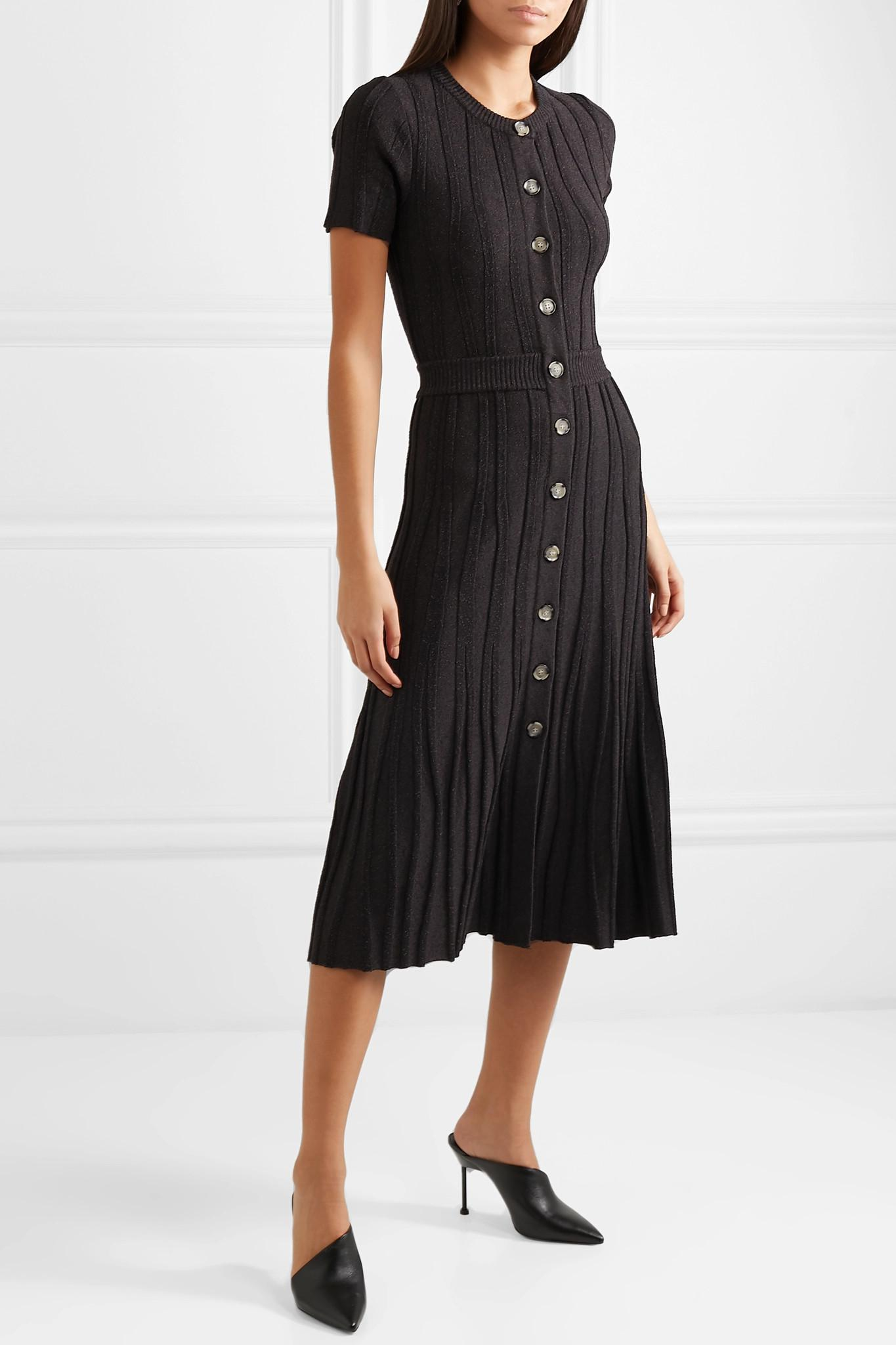 e28f7e6a3a2f Altuzarra - Black Abelia Ribbed Stretch-knit Midi Dress - Lyst. View  fullscreen