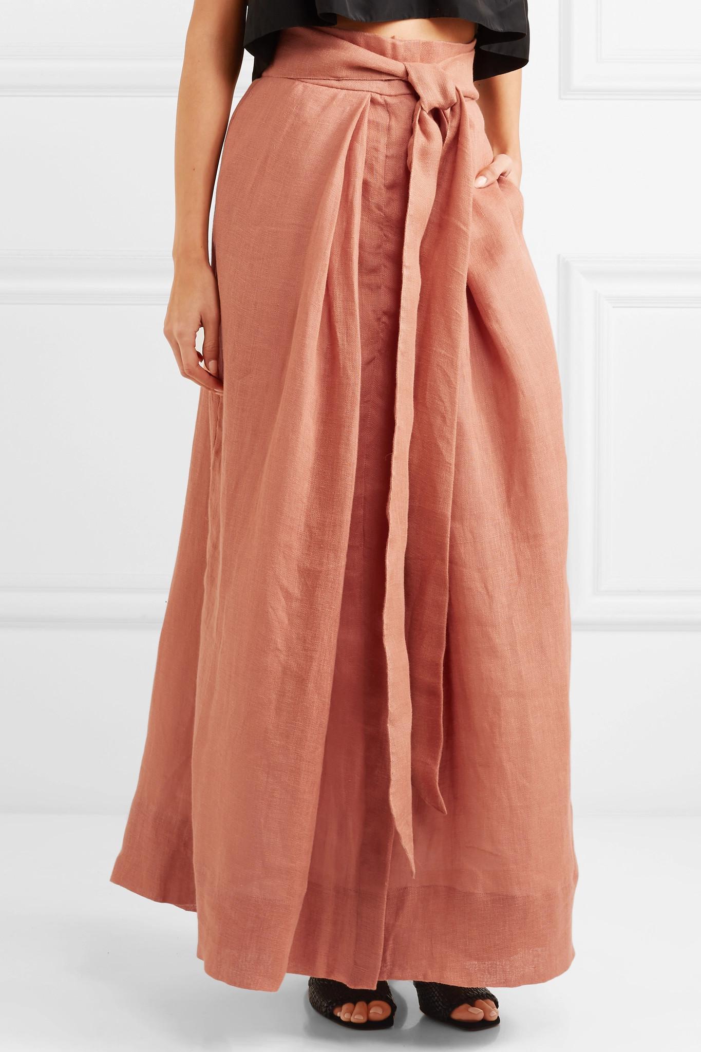 385edb180 Kalita Avedon Days Linen-canvas Maxi Skirt in Brown - Lyst