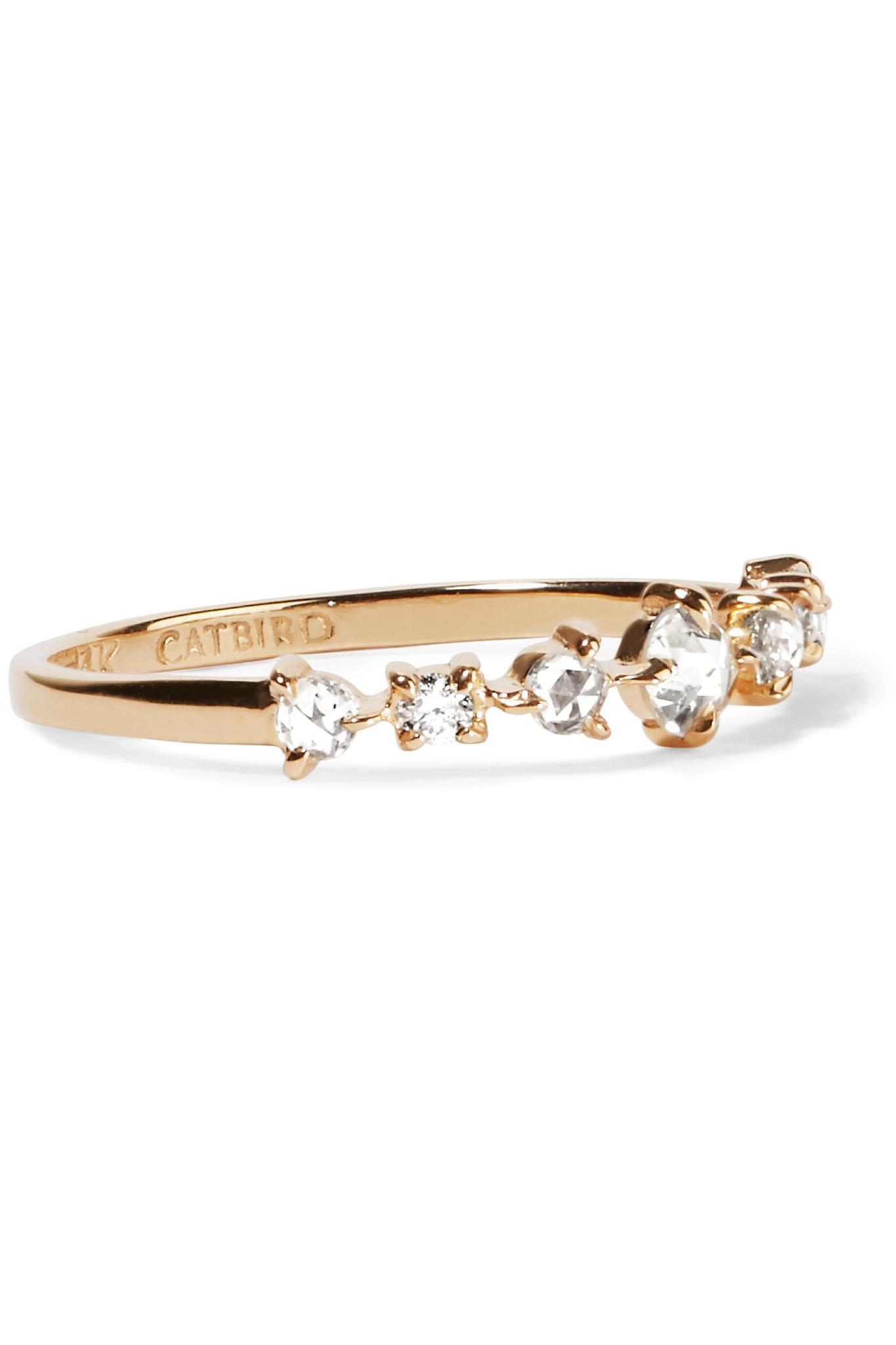Catbird Snow Queen 14-karat Gold Diamond Ring IcebIIJW