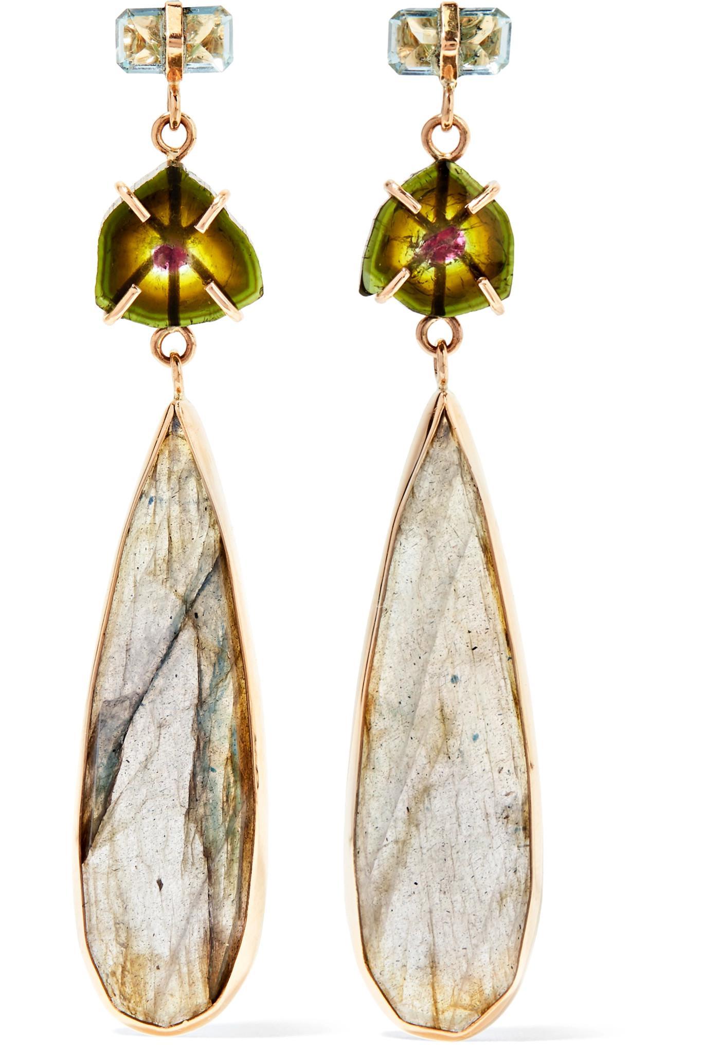Melissa Joy Manning 14-karat Gold Multi-stone Earrings hNk4lARUfy