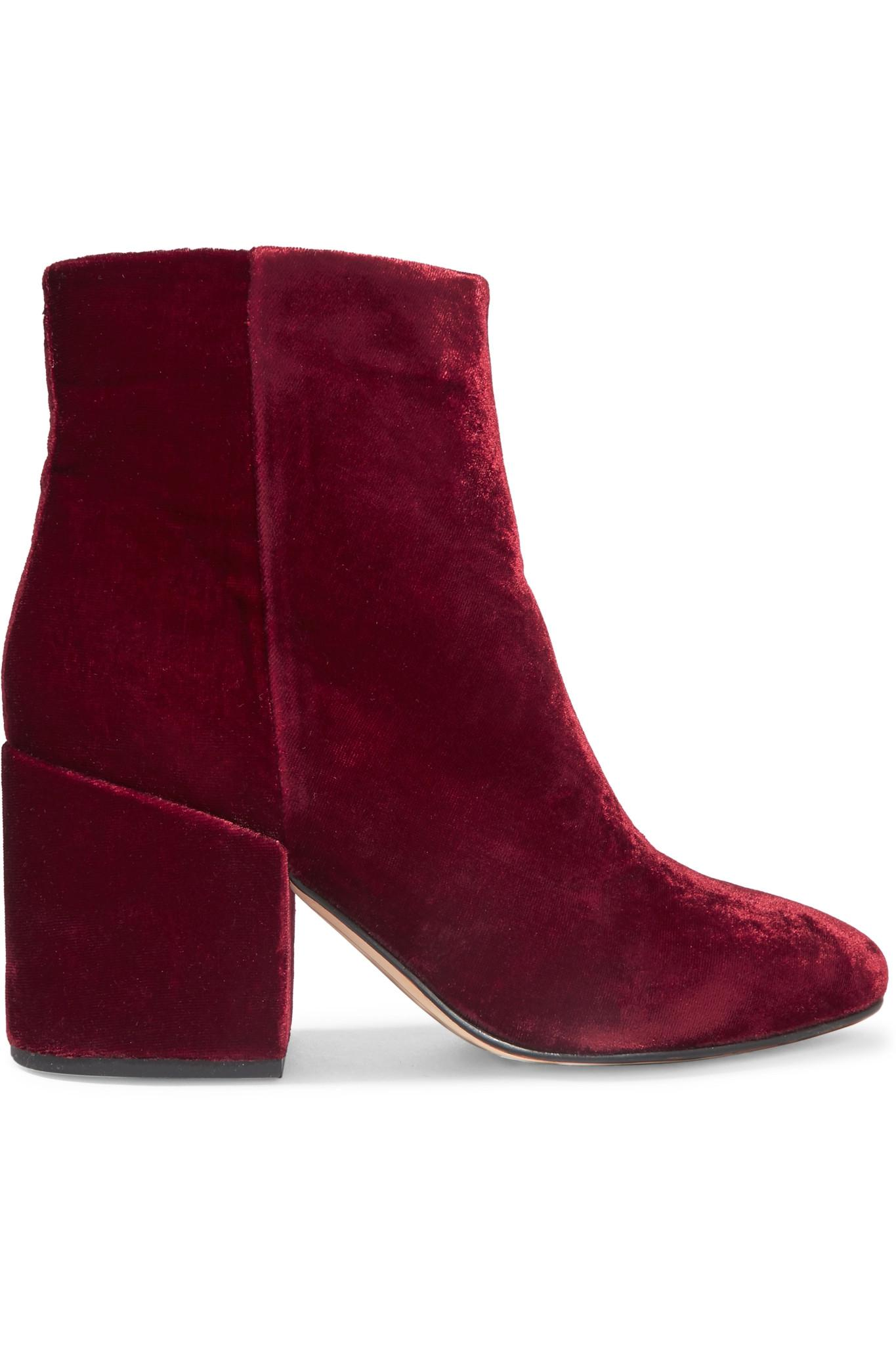 a7a97e284e33a Lyst - Sam Edelman Taye Velvet Ankle Boots in Purple