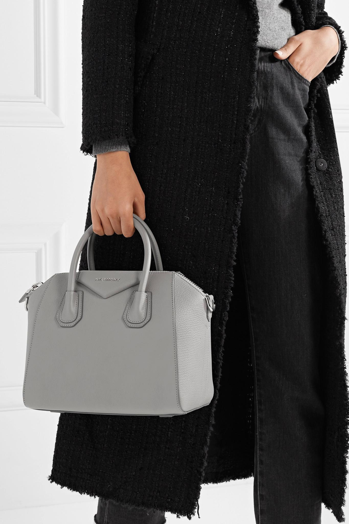 9c9f8e9432 Givenchy - Gray Antigona Small Textured-leather Tote - Lyst. View fullscreen