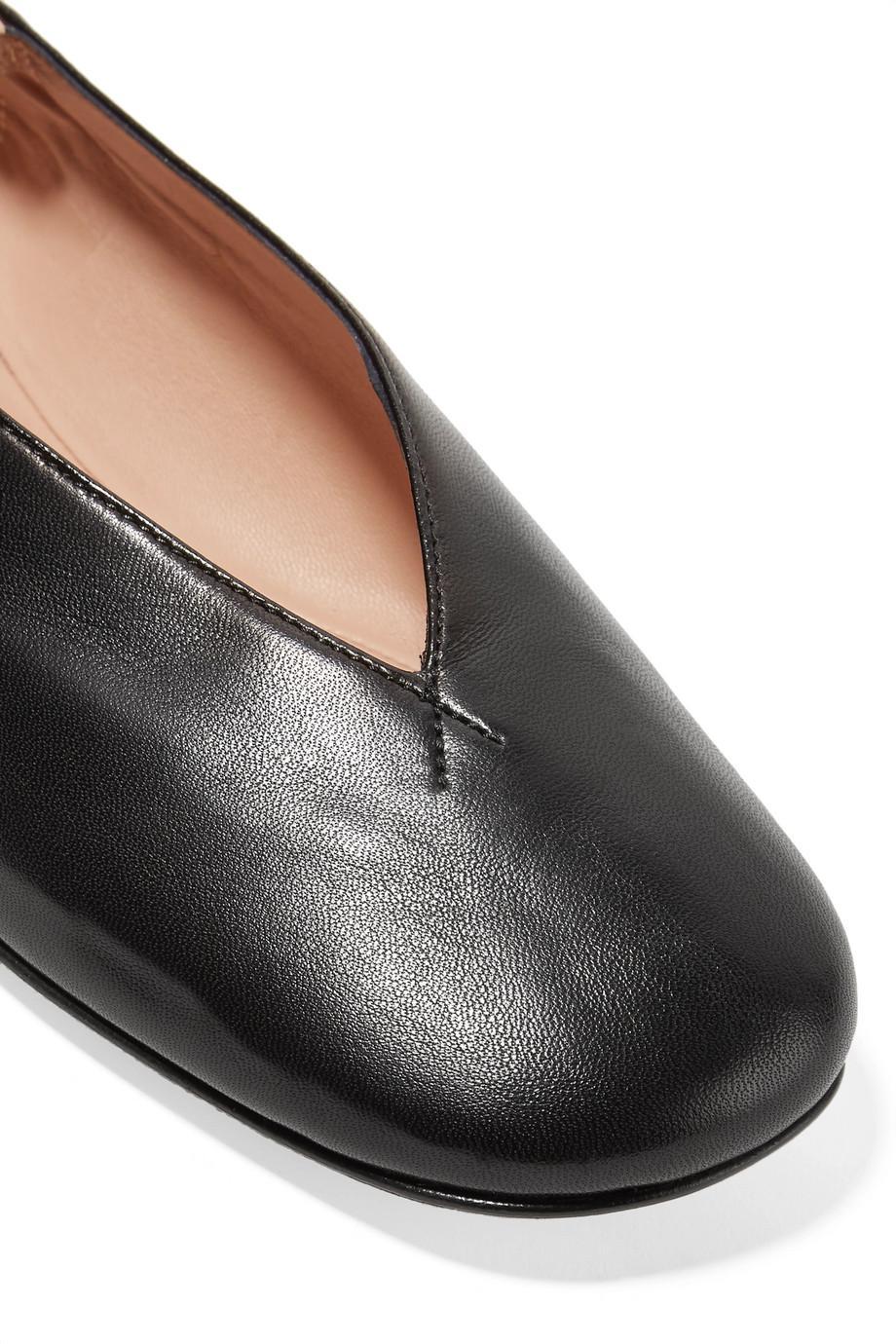 Odry Leather Ballet Flats - Black Acne Studios ZM4zWs61
