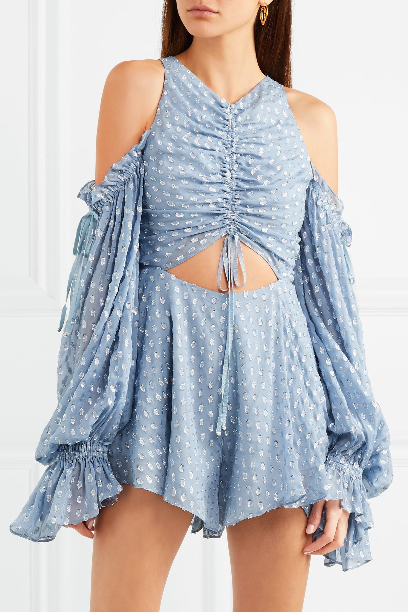 ed6c80db700 Lyst - Alice McCALL Did It Again Cold-shoulder Gathered Fil Coupé ...