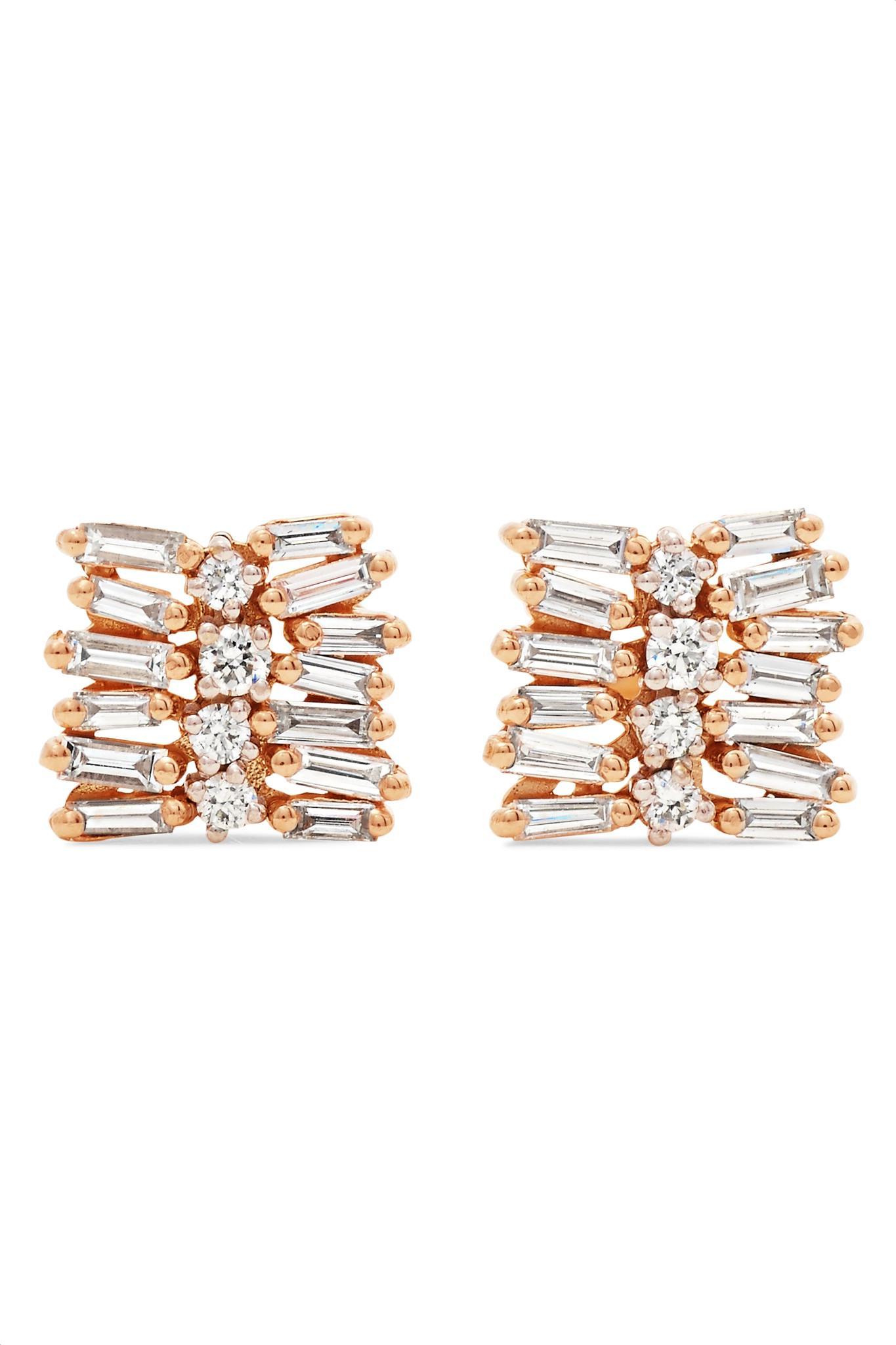 Suzanne Kalan 18-karat Gold Diamond Earrings iYkls1qml7