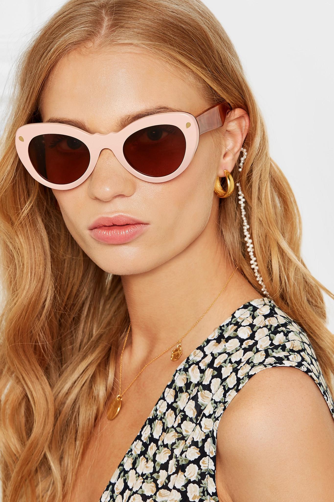 26f9272bfa Lyst - Lucy Folk Wingspan Two-tone Cat-eye Acetate Sunglasses in Pink