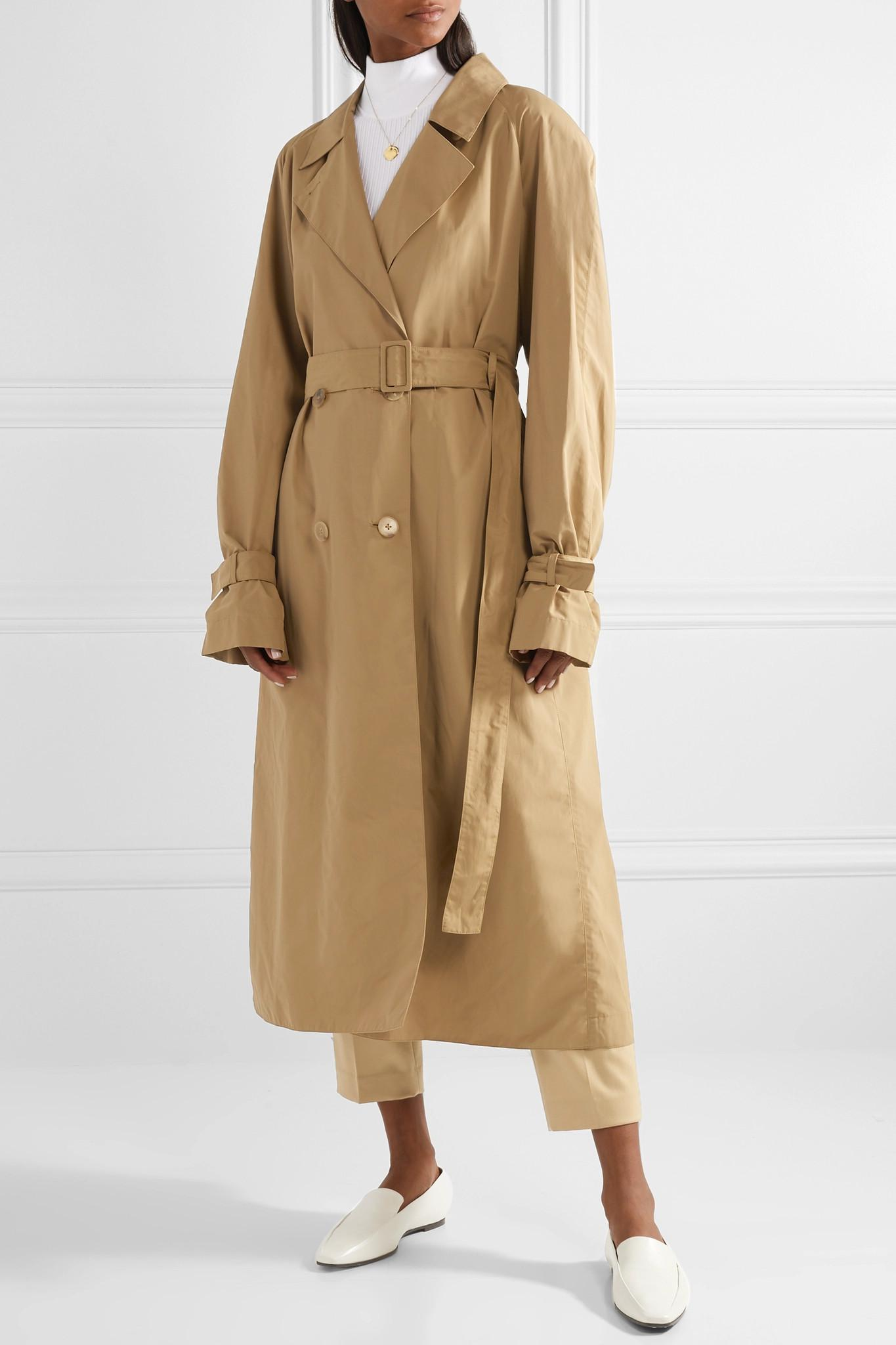 Laine The Row Nueta Mélangée Oversize En Lyst Trench Coat 0InxwAO