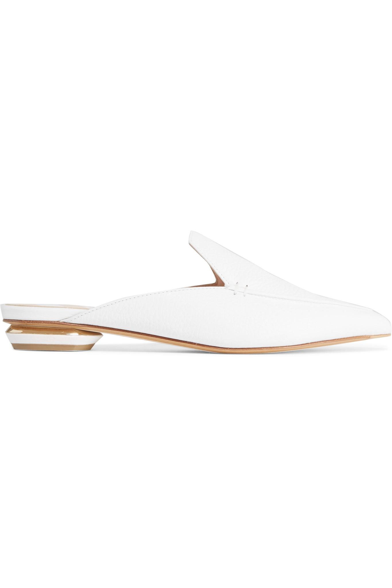 Beya Textured-leather Slippers - White Nicholas Kirkwood Find Great Sale Online Limited Edition Cheap Online 2018 New Online 3WueCE