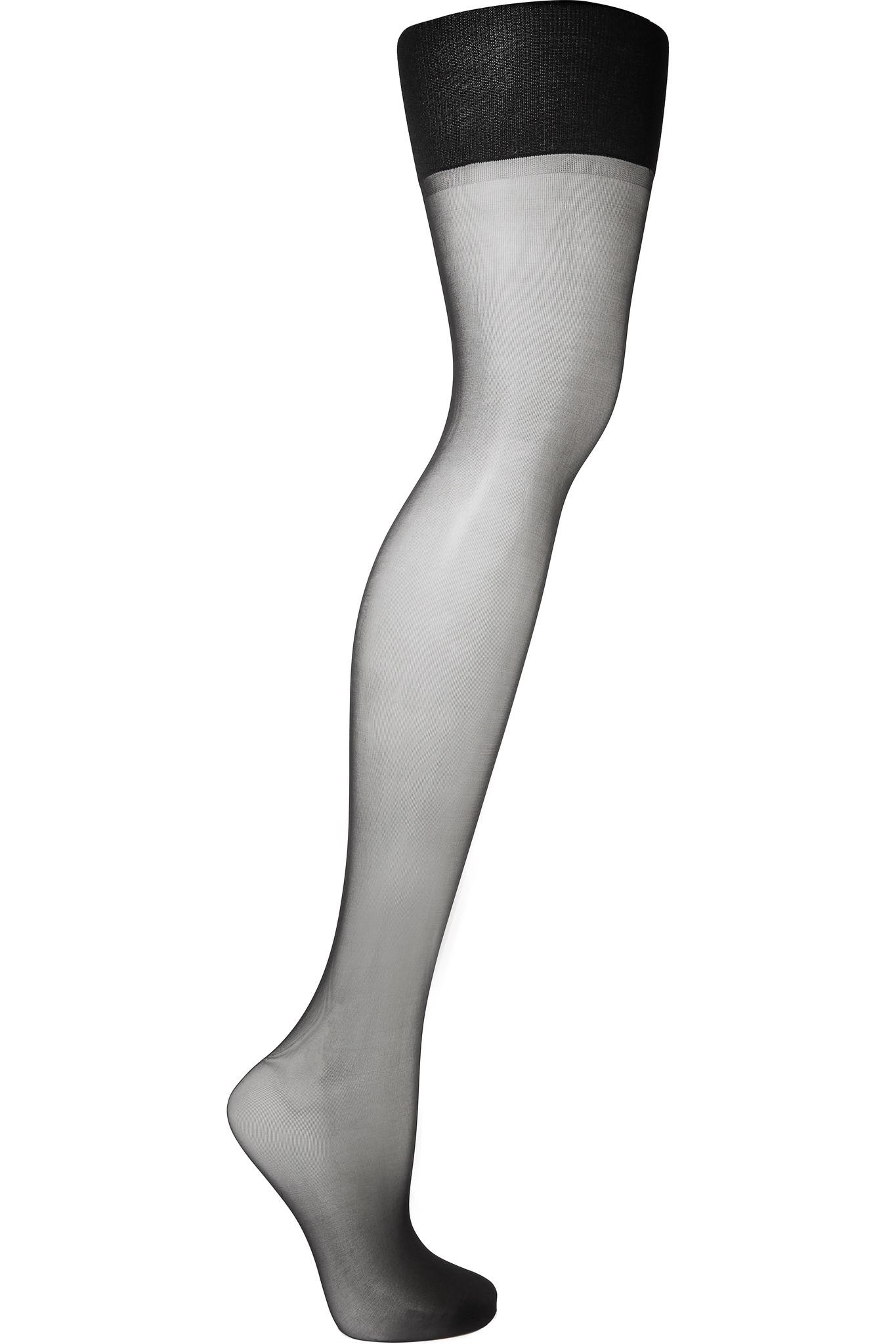 8e22ccc8986 Lyst - Spanx Luxe Leg High-rise 15 Denier Shaping Tights in Black
