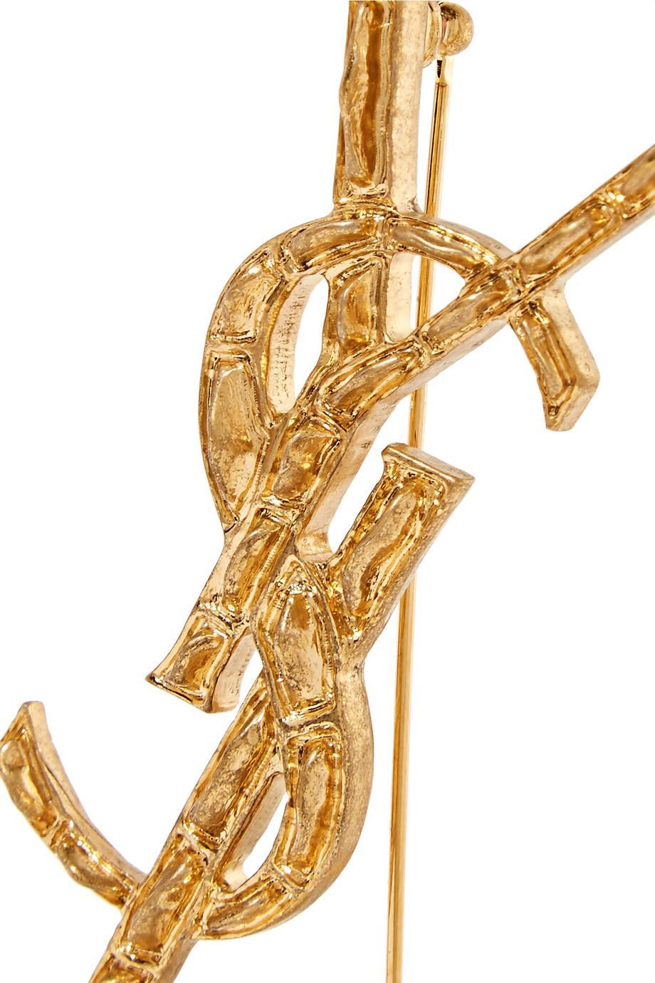 Saint Laurent Gold-tone Brooch BlONGi1bnq