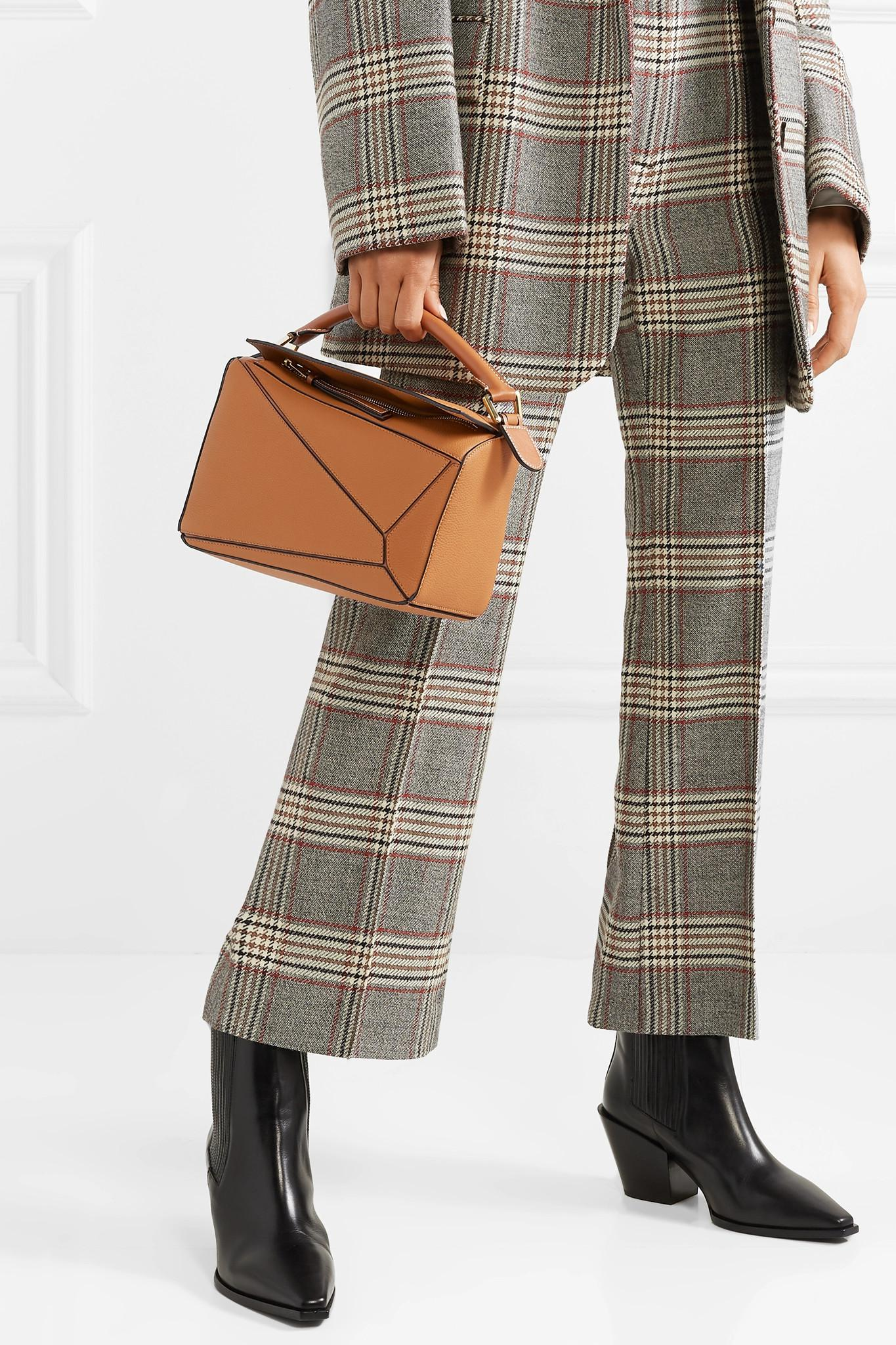 ee8d8c8bea37 Loewe - Brown Puzzle Small Textured-leather Shoulder Bag - Lyst. View  fullscreen