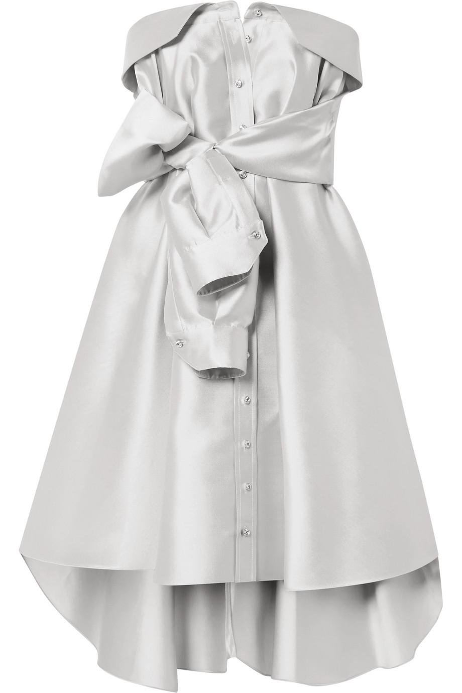 Bow-detailed Satin-twill Gown - Red Alexis Mabille kV7WzQVUpX