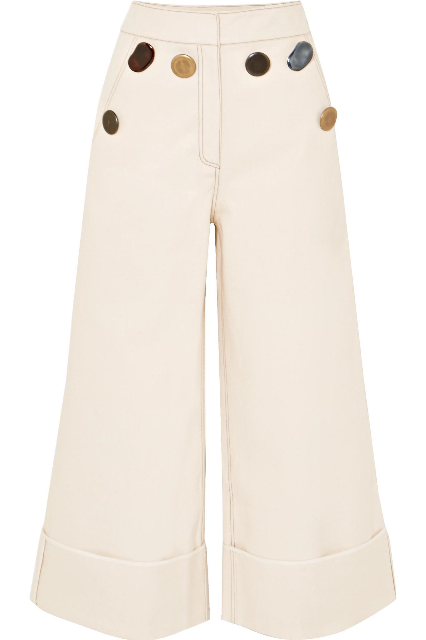 Bailey Cropped High-rise Wide-leg Jeans - Ecru Rejina Pyo daUuZ8uVhK